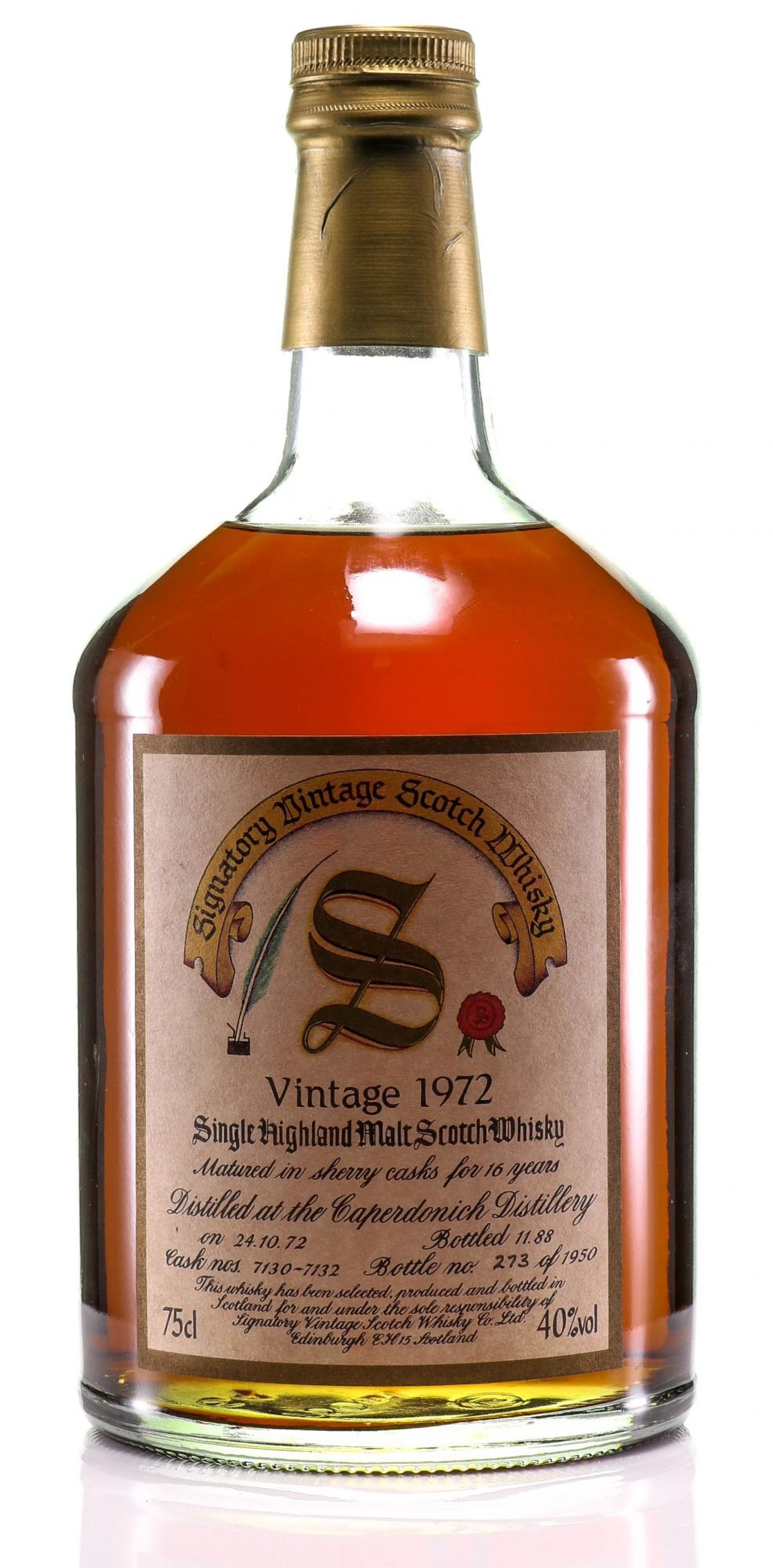 Whisky 1972 Caperdonich Signatory