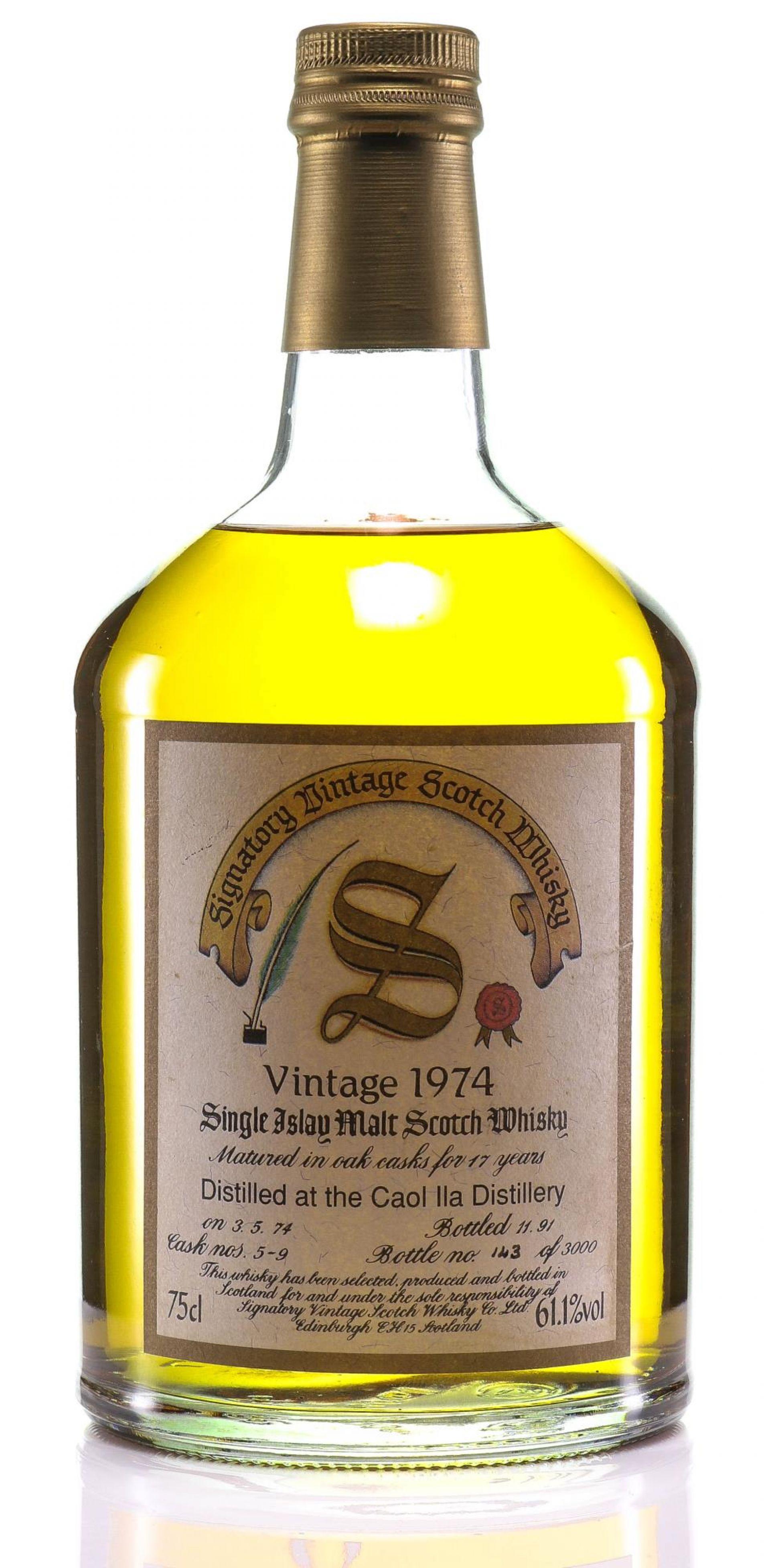 Whisky 1974 Caol Ila Signatory