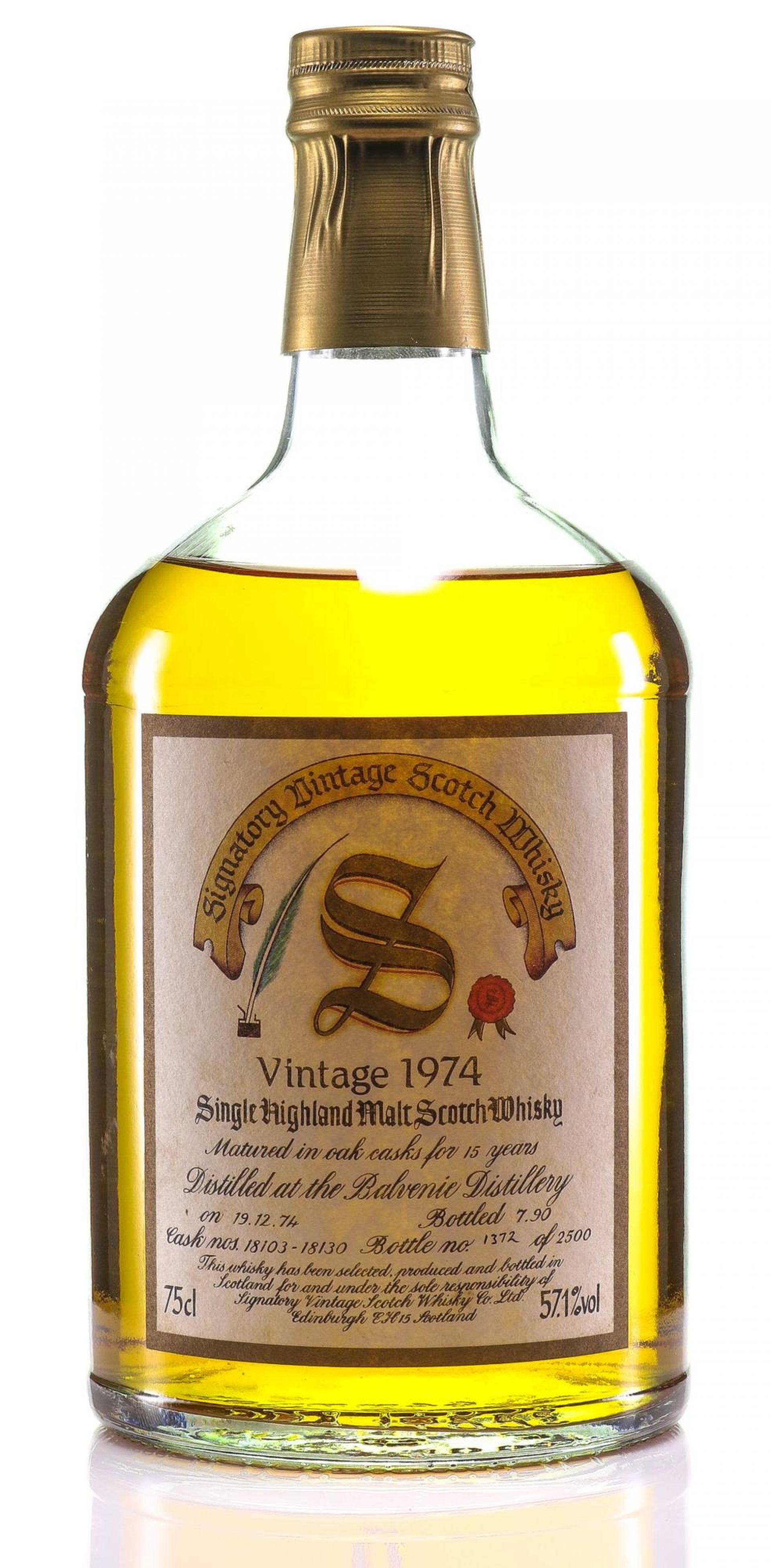 Whisky 1974 Balvenie Signatory