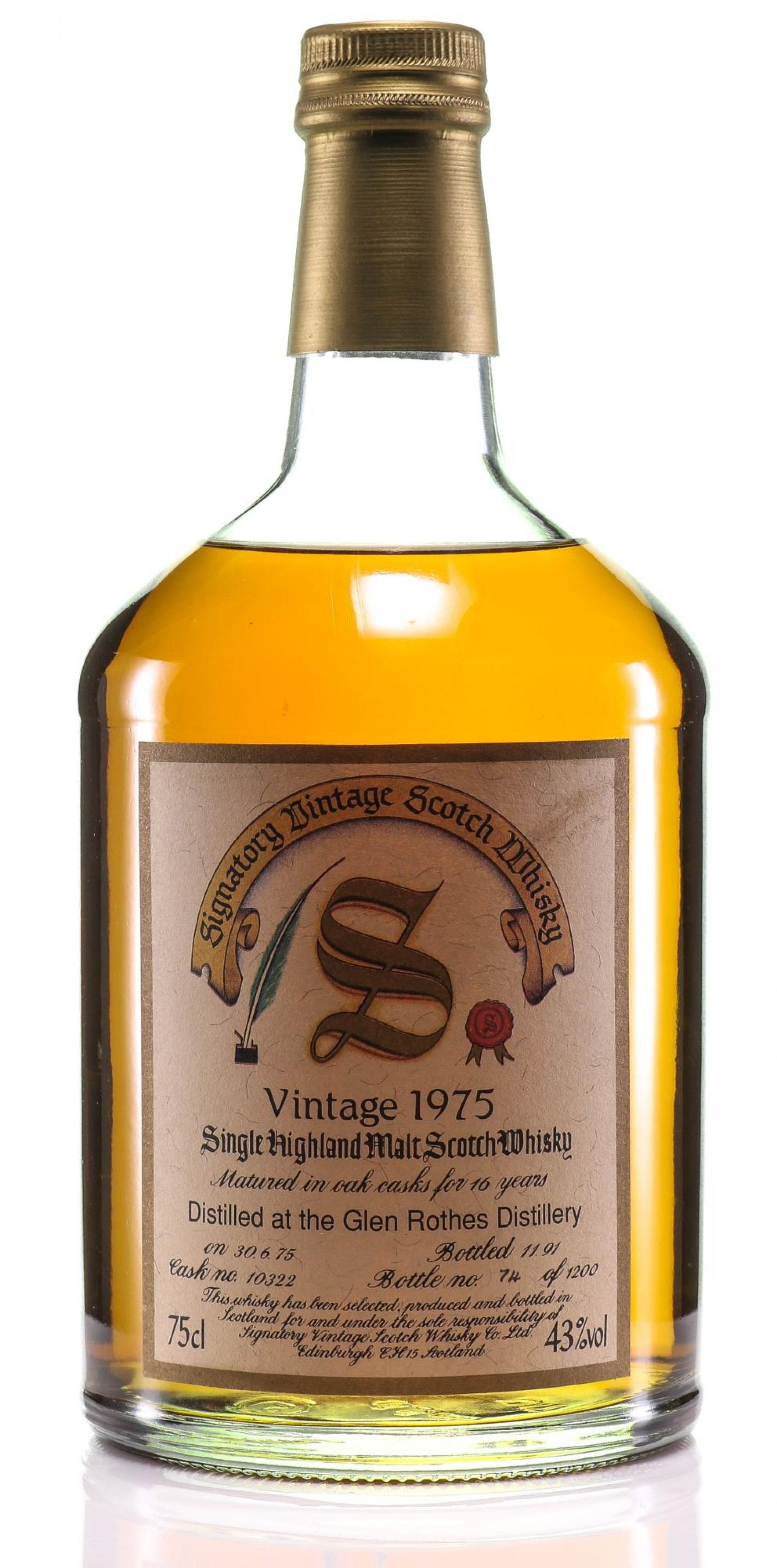 Whisky 1975 Glen Rothes Signatory