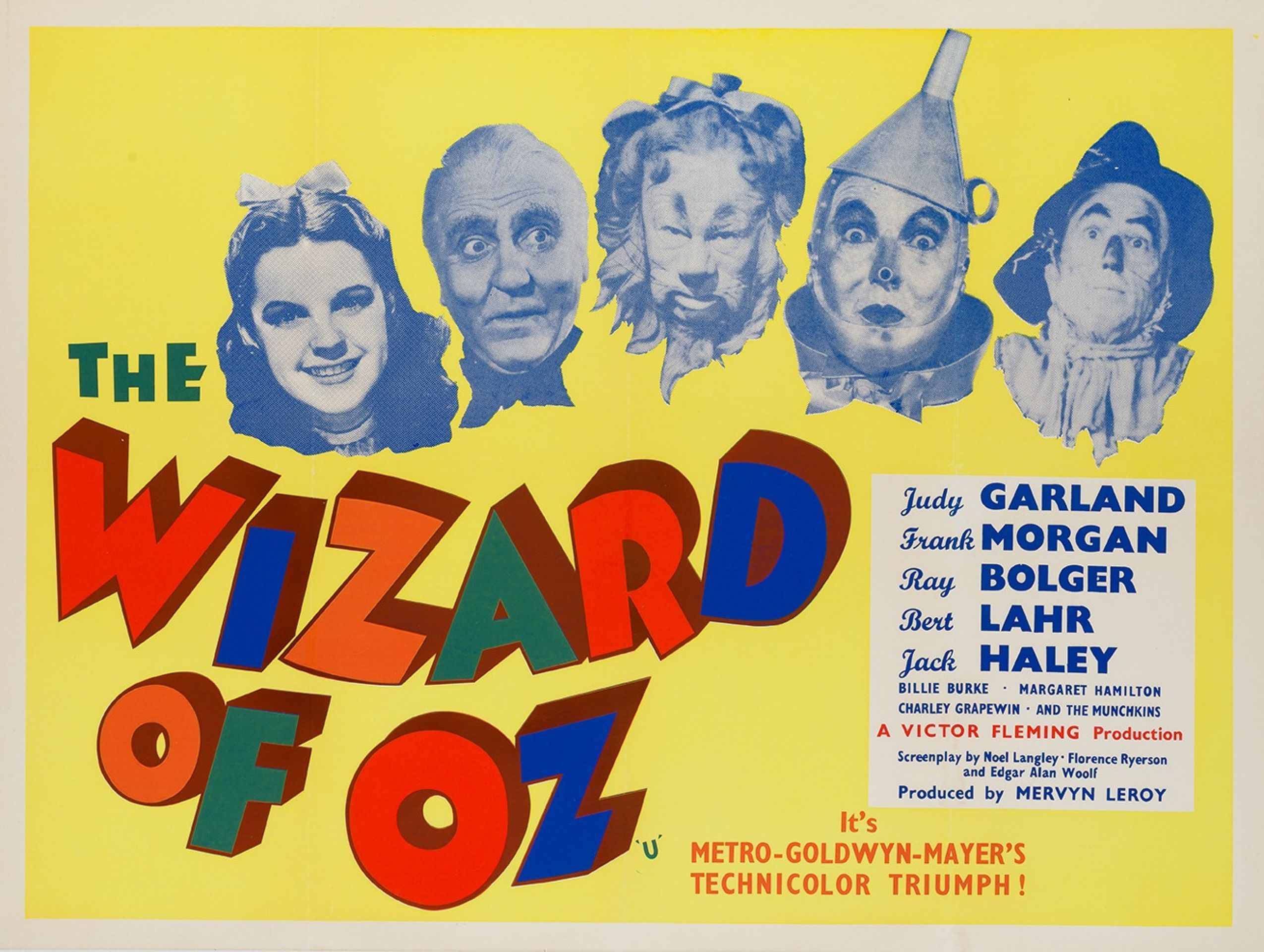 Original The Wizard Of Oz British Film Movie Poster