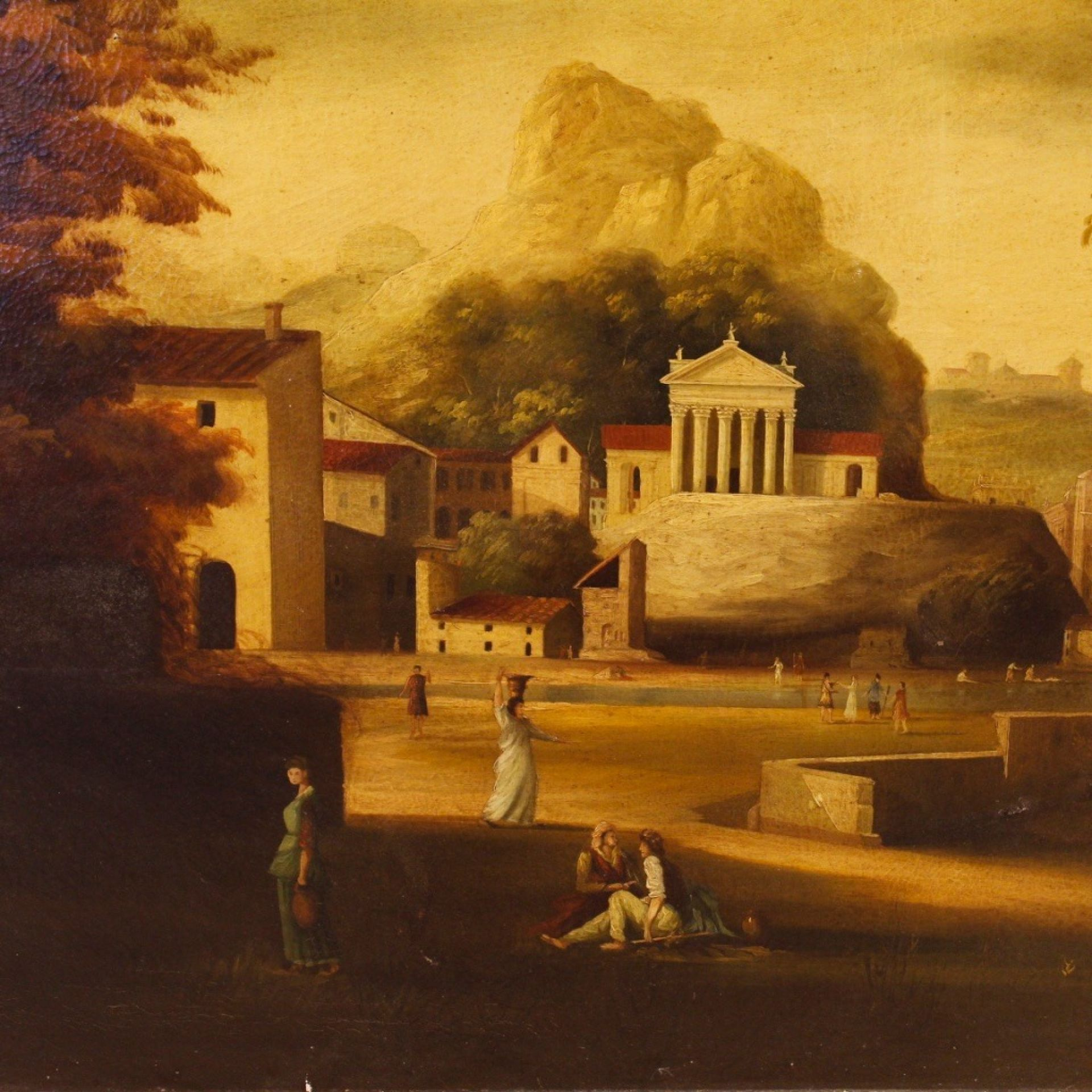 20th Century Oil On Canvas Italian Painting, 1950