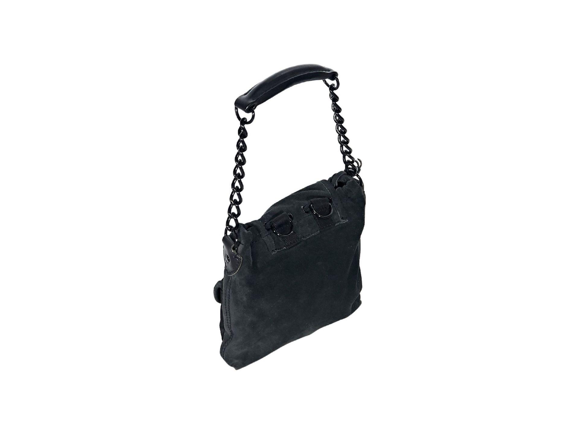 Black Balenciaga Suede Mini Sac Bag