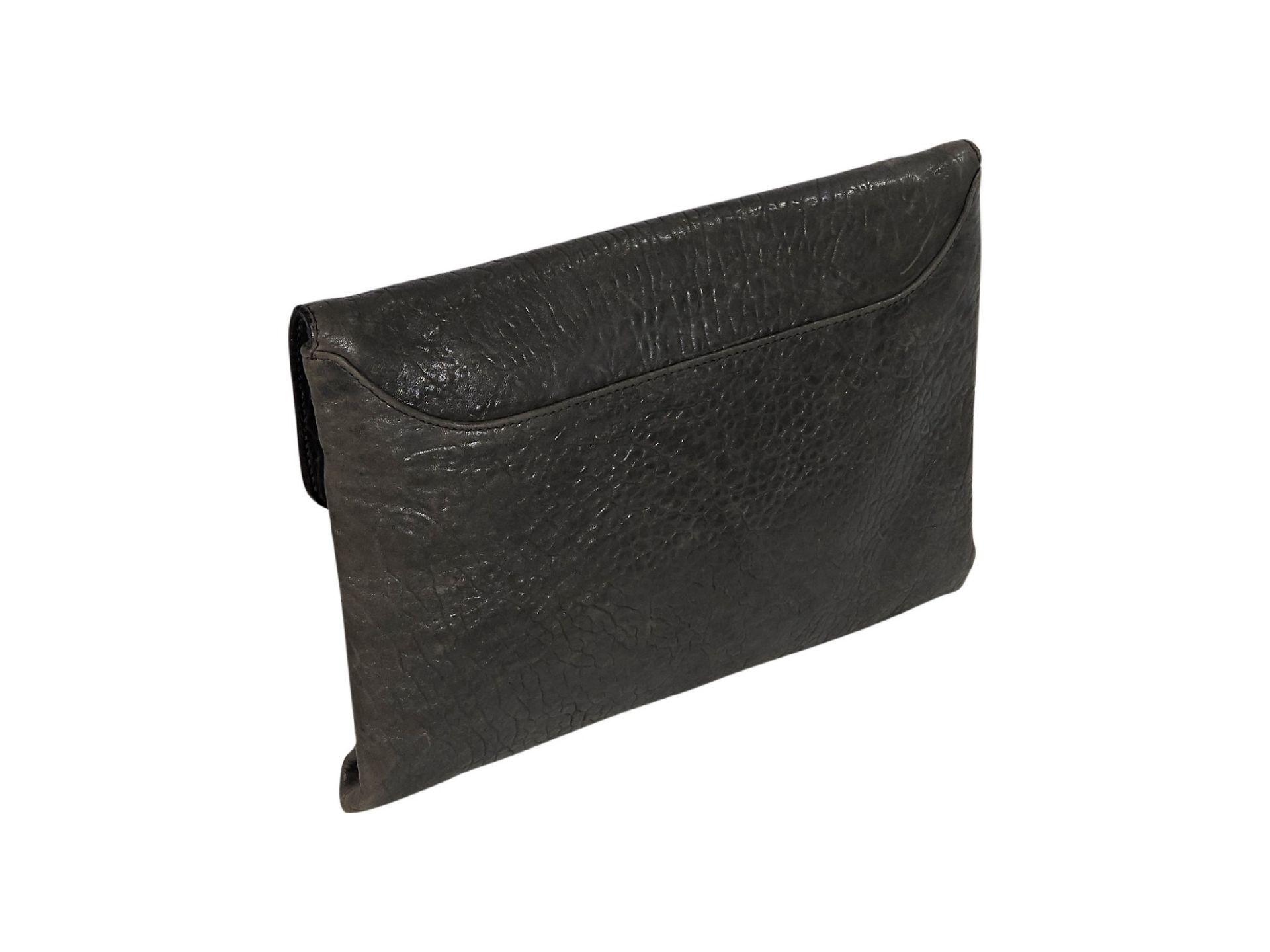 Dark Grey Givenchy Leather Antigona Clutch