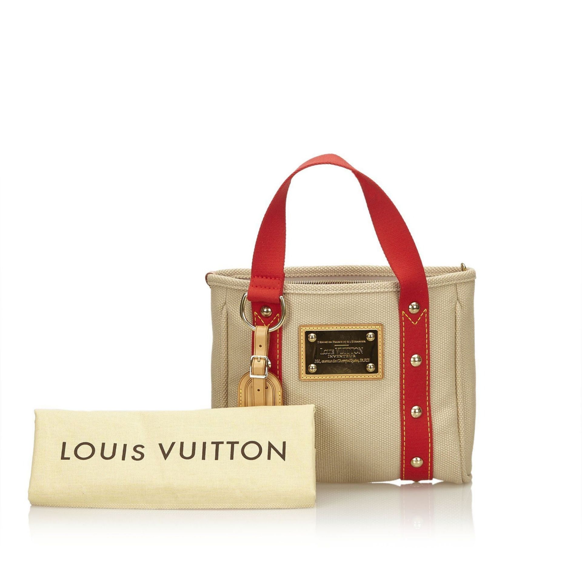 Tan Louis Vuitton Antigua Cabas PM Tote Bag
