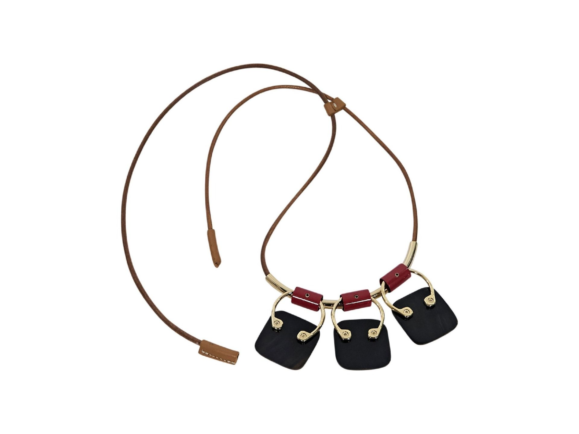 Cream Marni Enamel Pendant Necklace