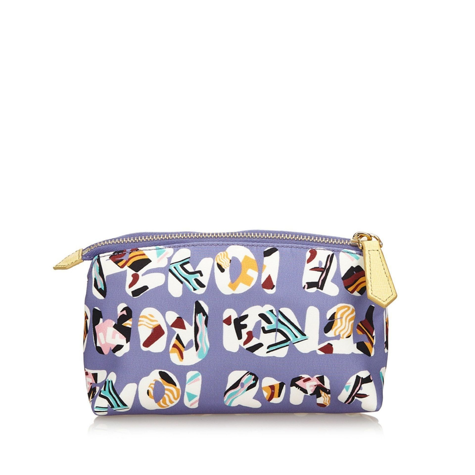 Multicolor Fendi Roma-Printed Nylon Pouch