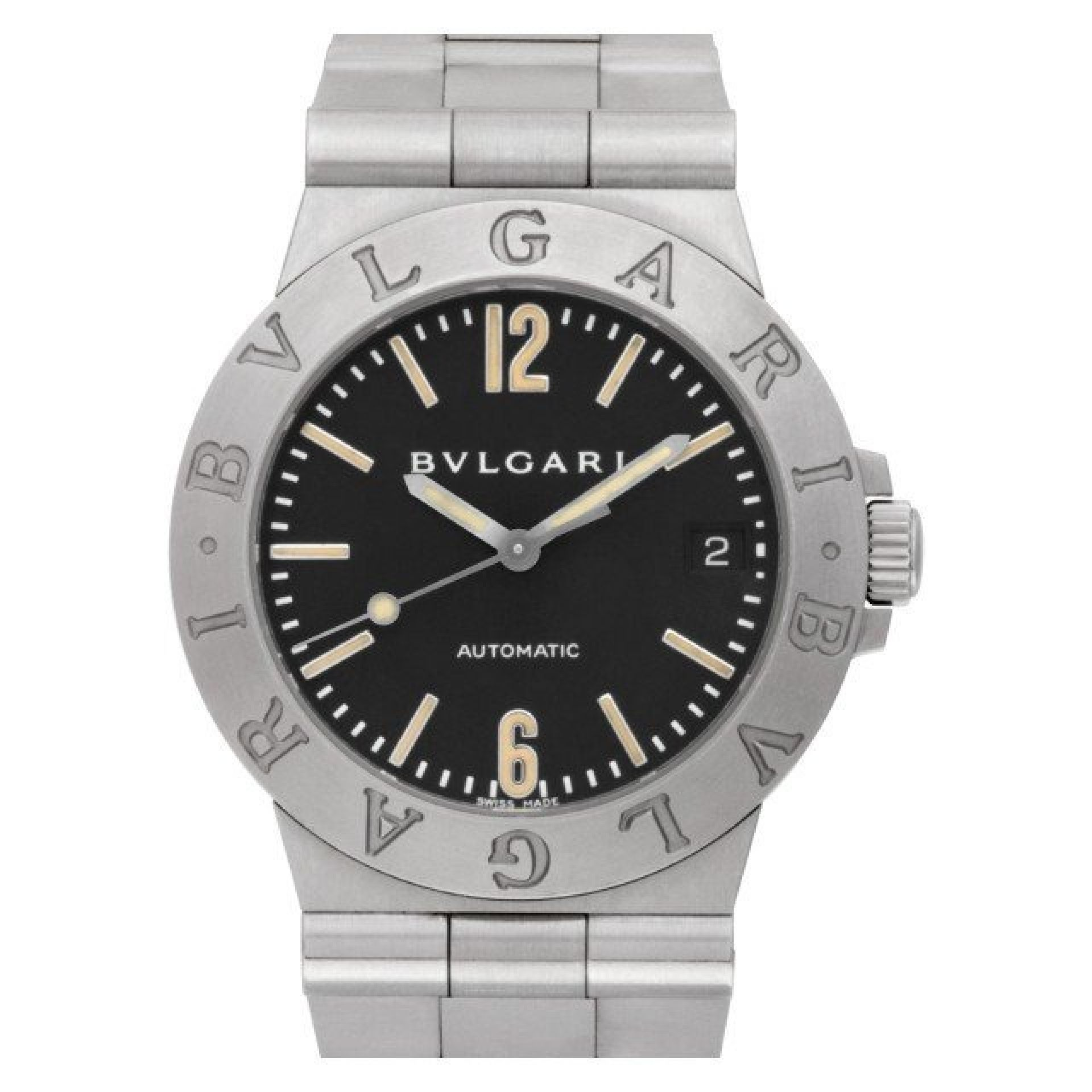Bvlgari Diagono LCV 35 S Stainless Steel Black dial 36mm Automatic watch