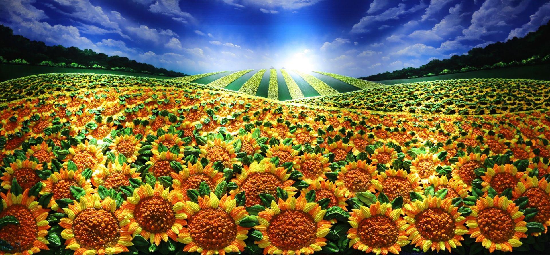 Massimo Meda (Sunflowers, cm170x80)