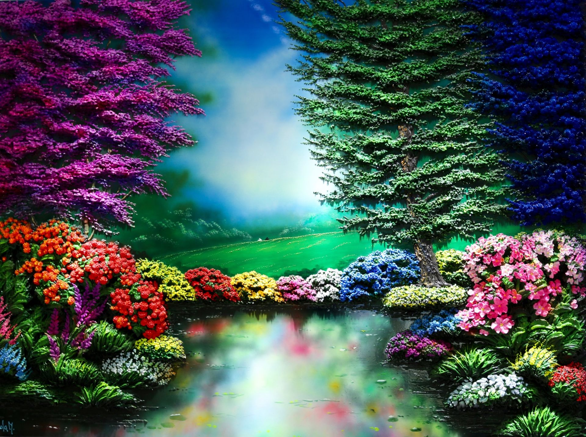 Massimo Meda (Colorful Park, cm193x143)
