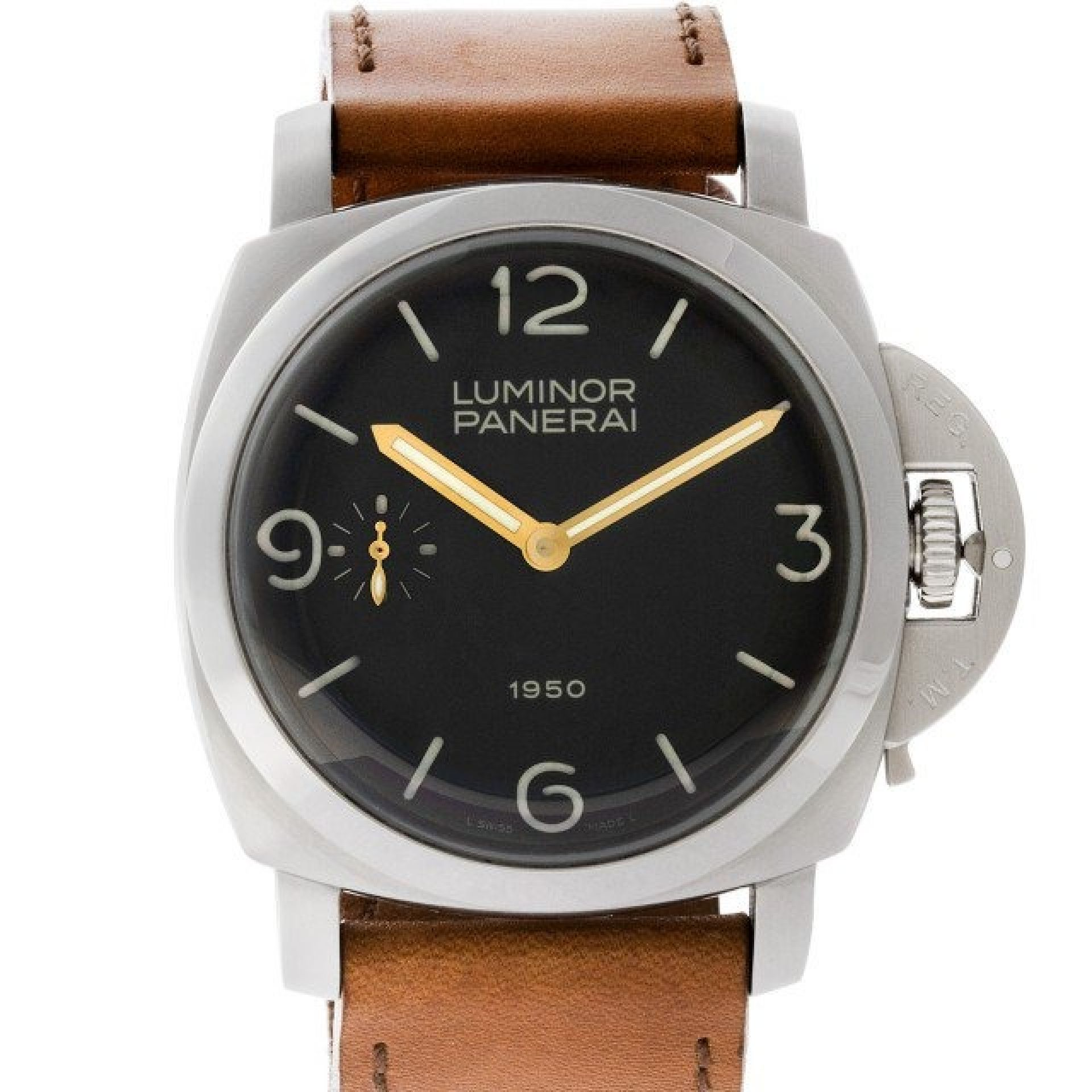 Panerai Luminor PAM00127 stainless steel Black dial 47mm Manual watch