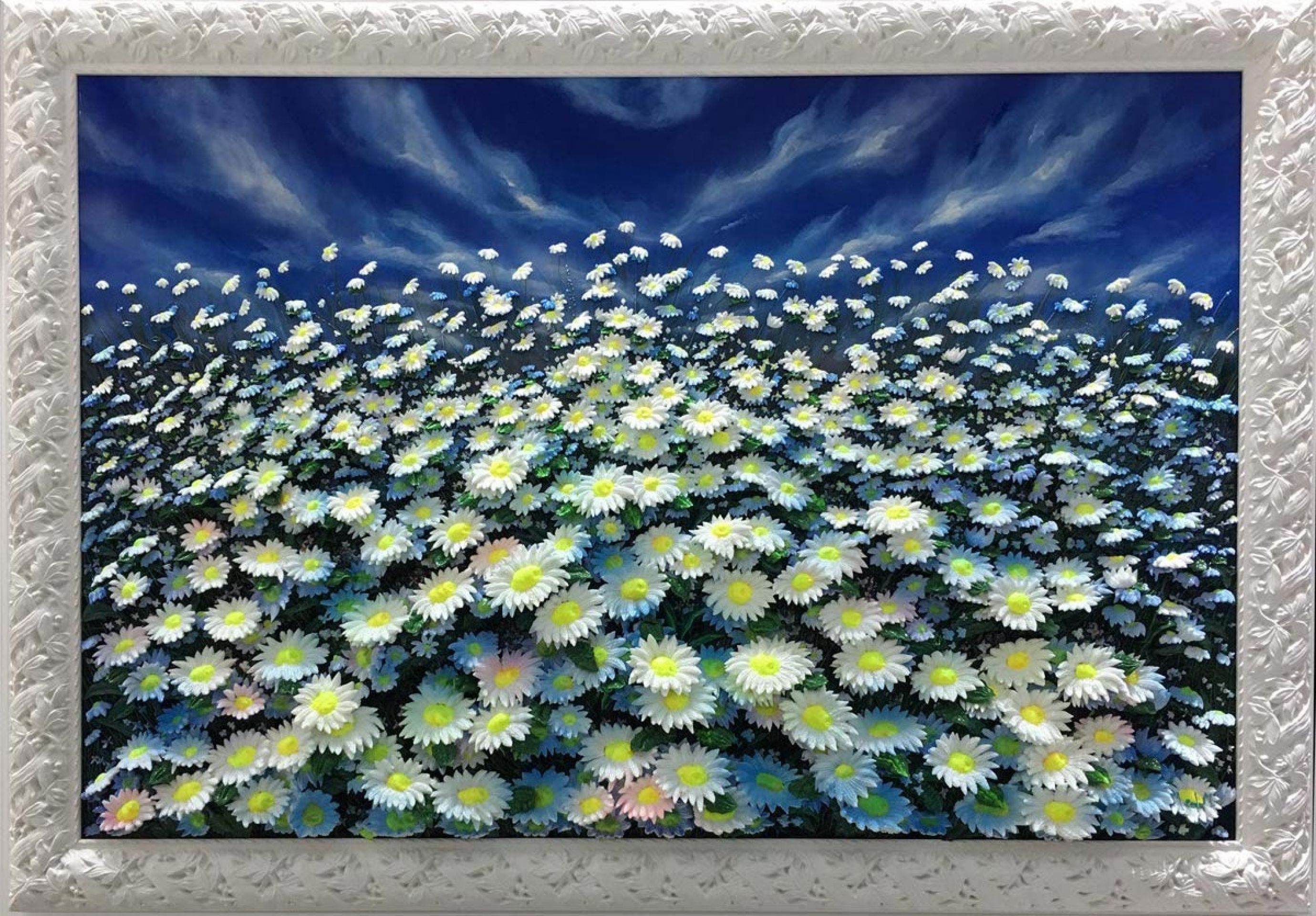 Massimo Meda (Daisies, framed cm168x118)