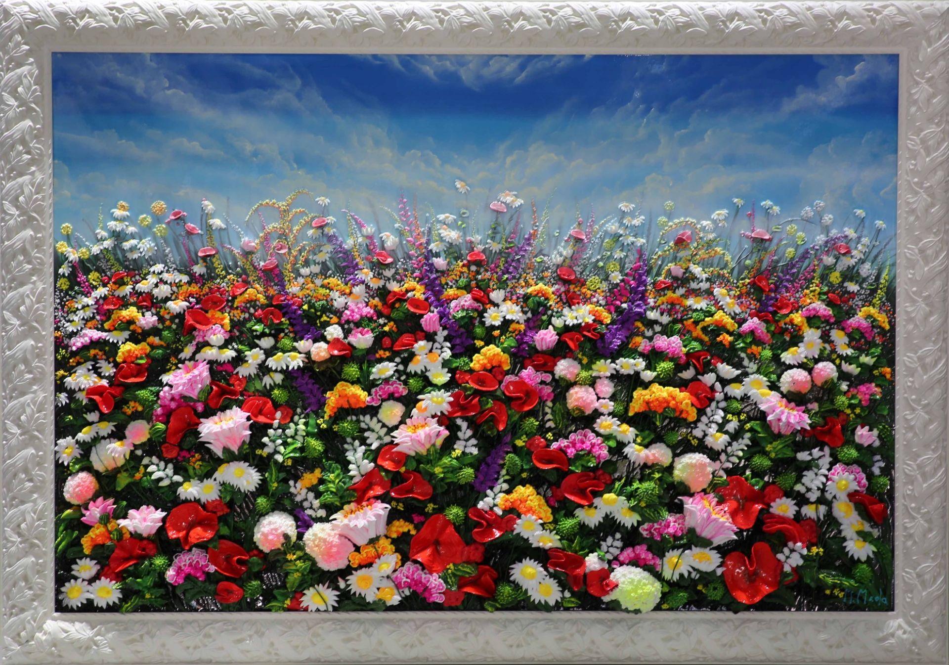 Massimo Meda (Spring Flowers, framed cm168x118)