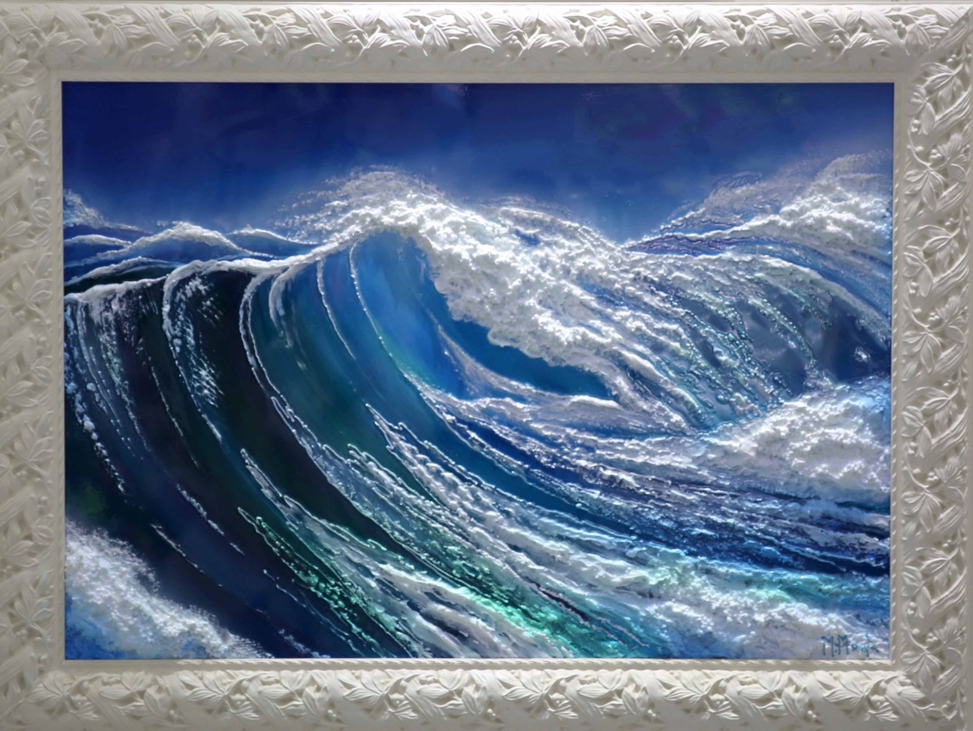Massimo Meda (The Wave, framed cm188x120)
