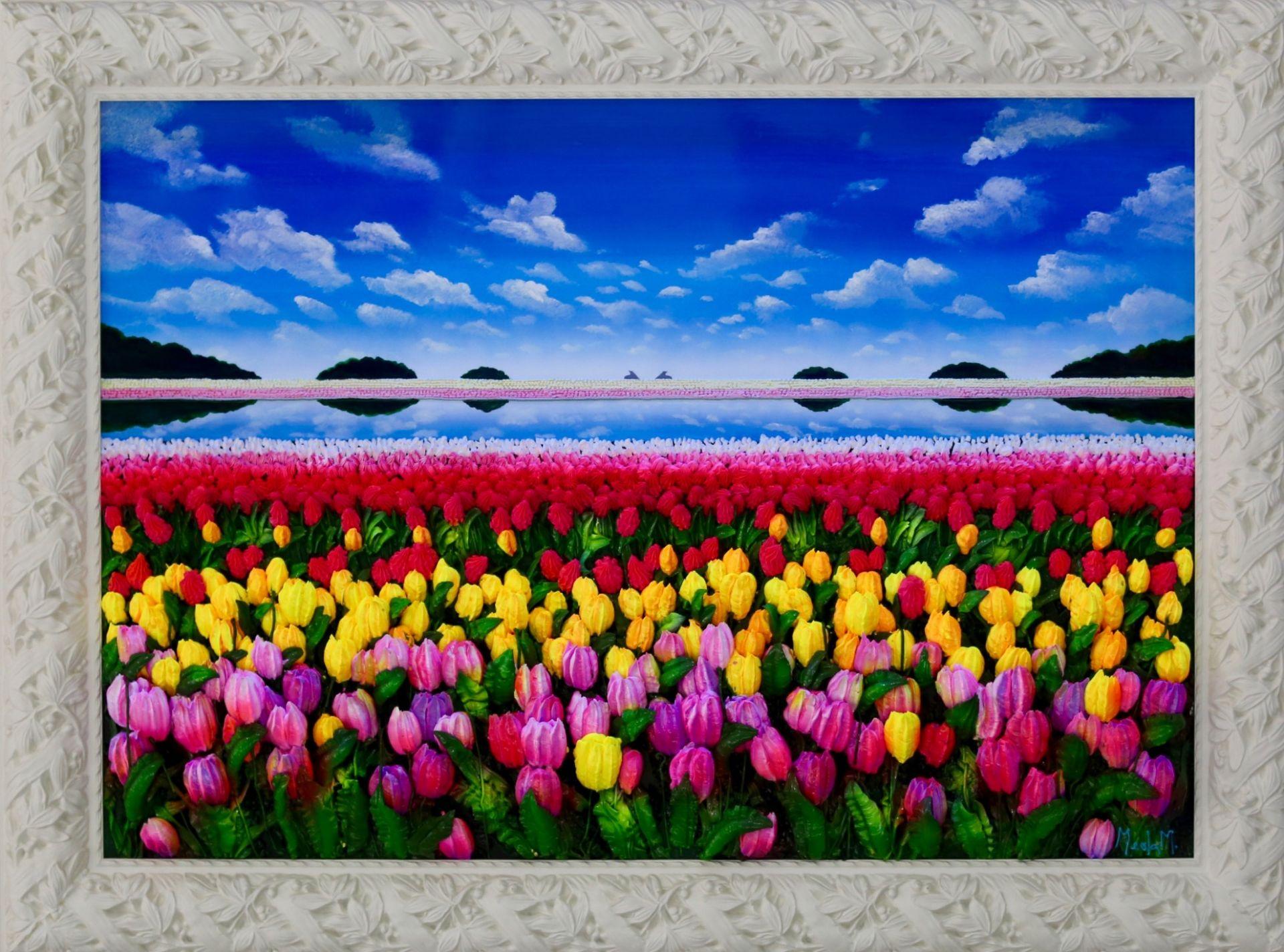 Massimo Meda (Tulips, framed cm120x88)