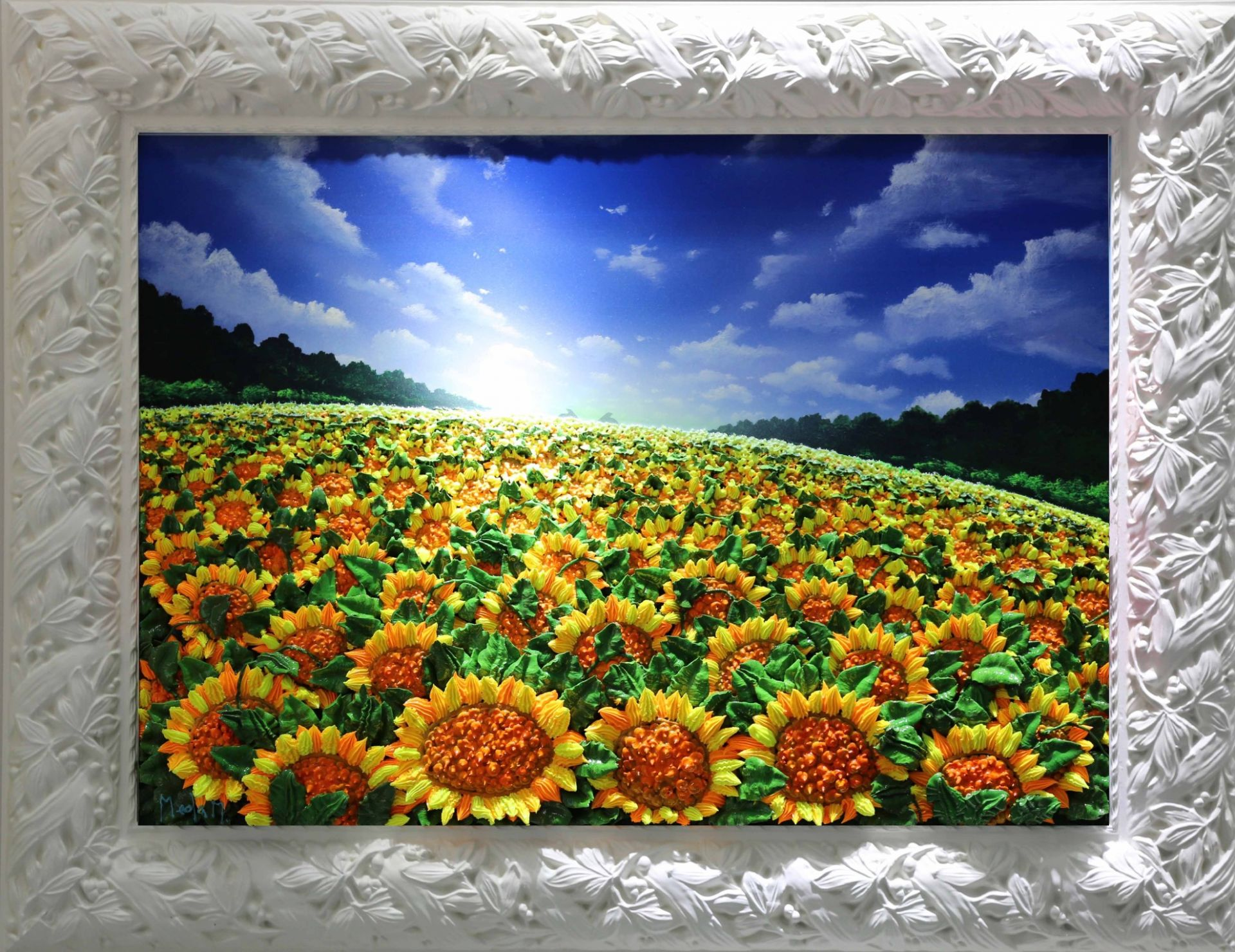 Massimo Meda (Sunflowers, framed cm88x68)