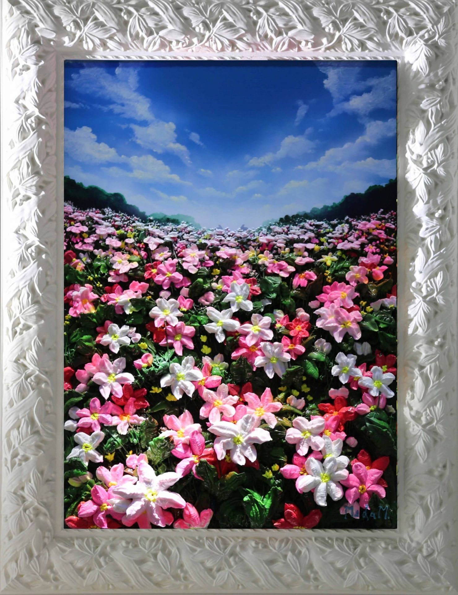 Massimo Meda (Pink Daffodils, framed cm68x88)