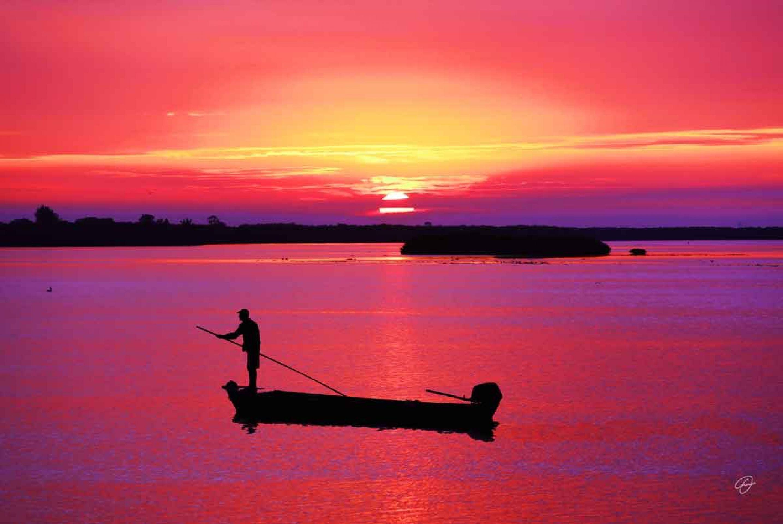 Fabio Dal Boni (Rowing Towards the Sunrise, inch60x40)