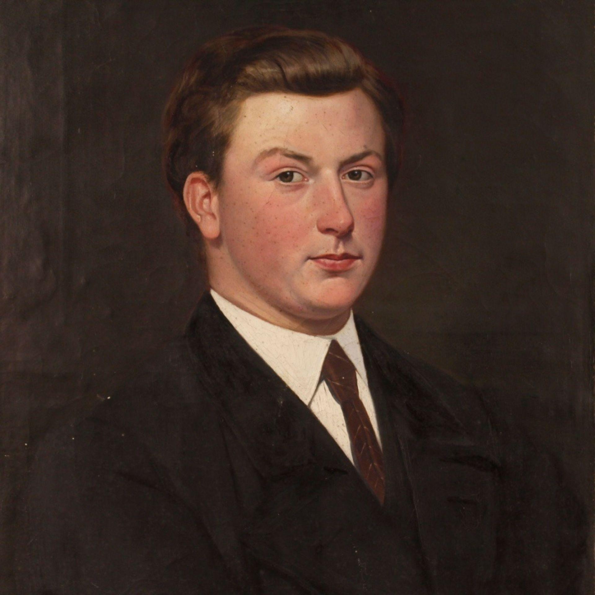 20th Century Oil On Canvas Dutch Portrait Of A Gentleman Painting, 1920