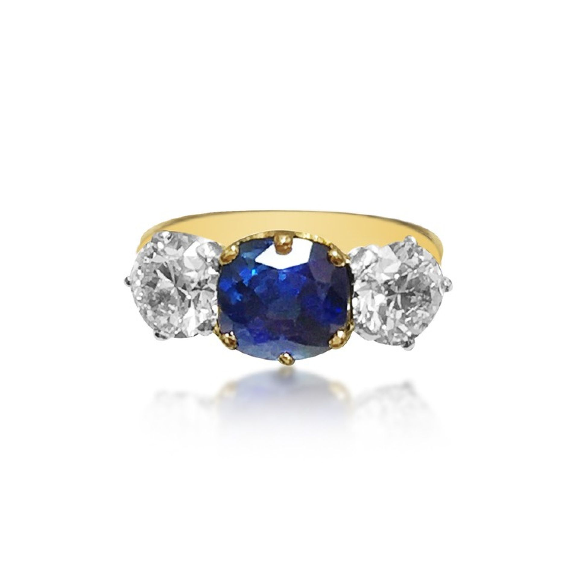 A DIAMOND AND SAPPHIRE RING, BY TIFFANY & CO