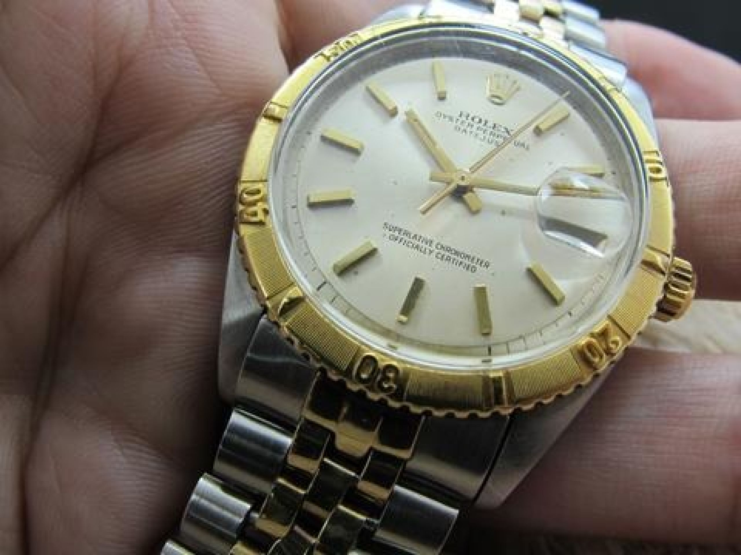 1962 ROLEX DATEJUST THUNDERBIRD 1625 2-TONE ORIGINAL SILVER DIAL WITH PAPERS