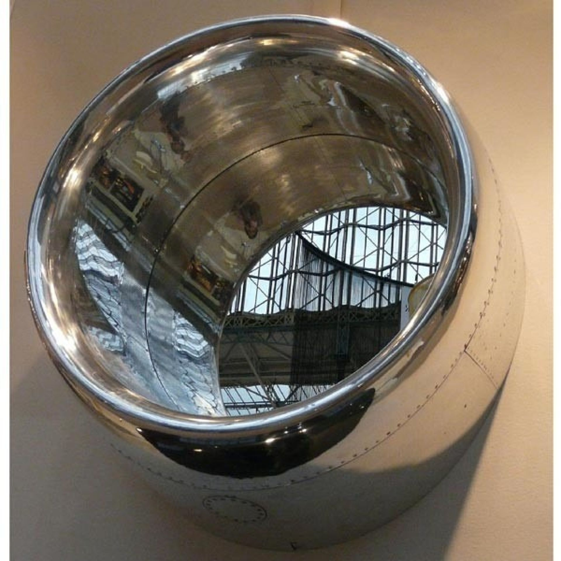 MIRROR ALUMINUM PART OF A REACTOR COVER 13-B 727