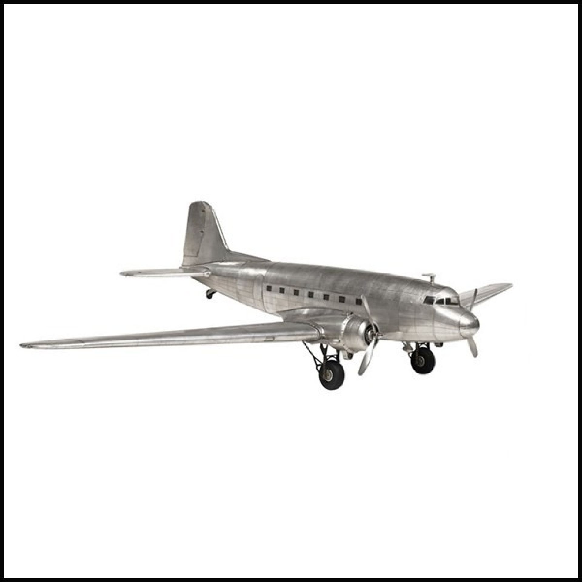 PLANE HAND MADE ALUMINUM SHEET 113-DAKOTA DC3