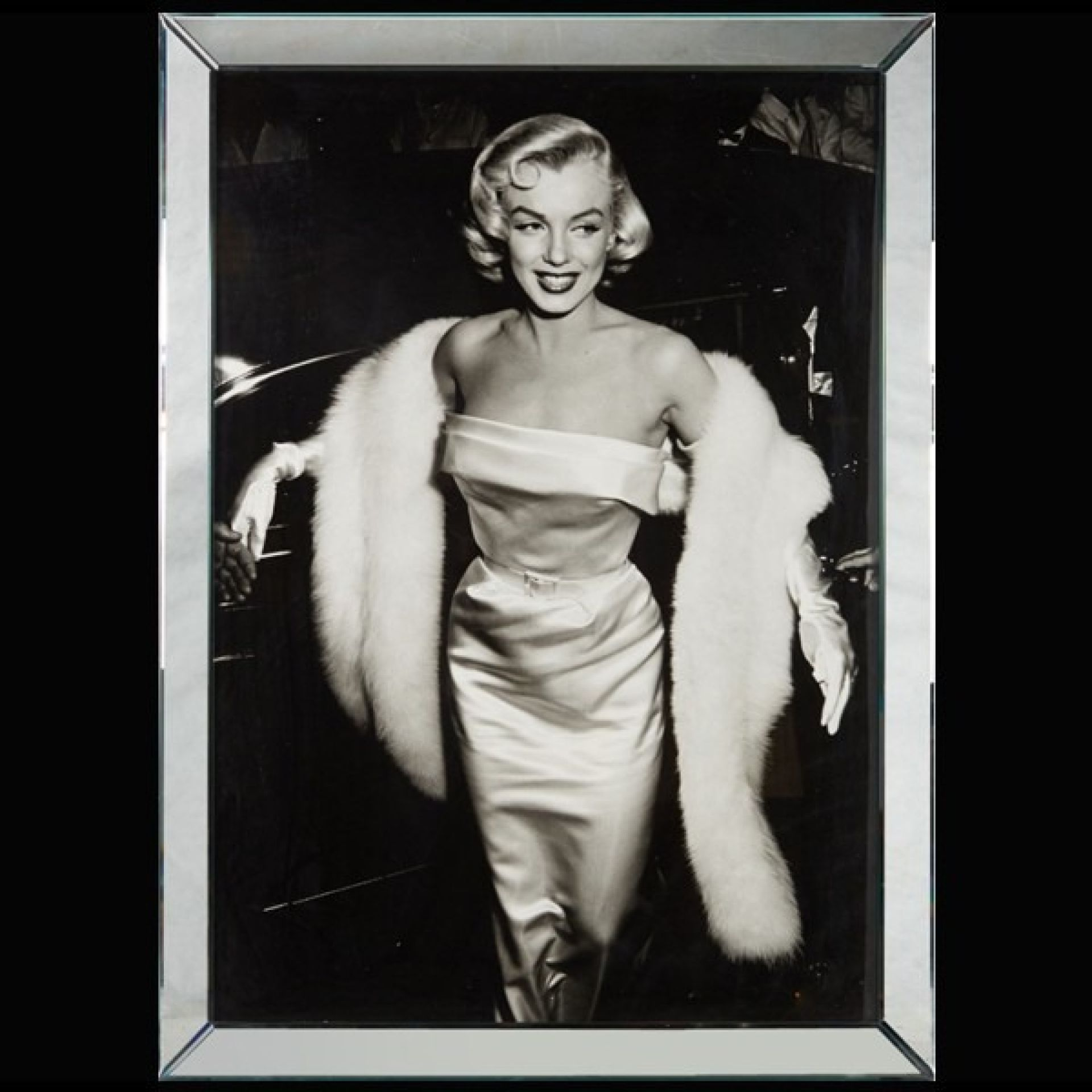 BLACK AND WHITE PHOTOGRAPHY MIRROR FRAME PC-MARYLIN MONROE