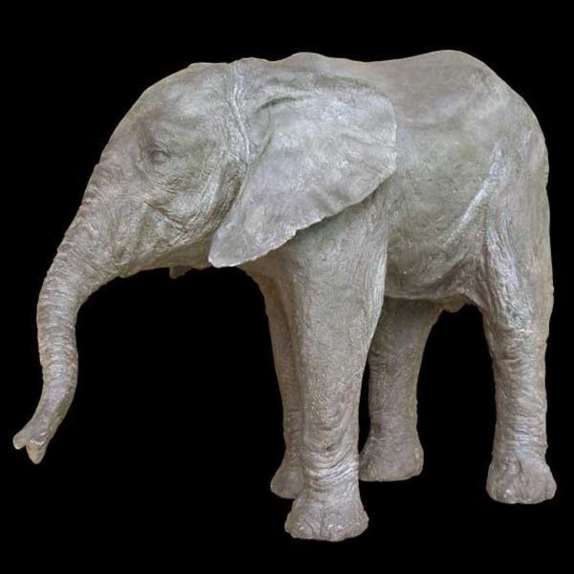 LIMITED EDITION 11-ELEPHANT RESIN SCULPTURE