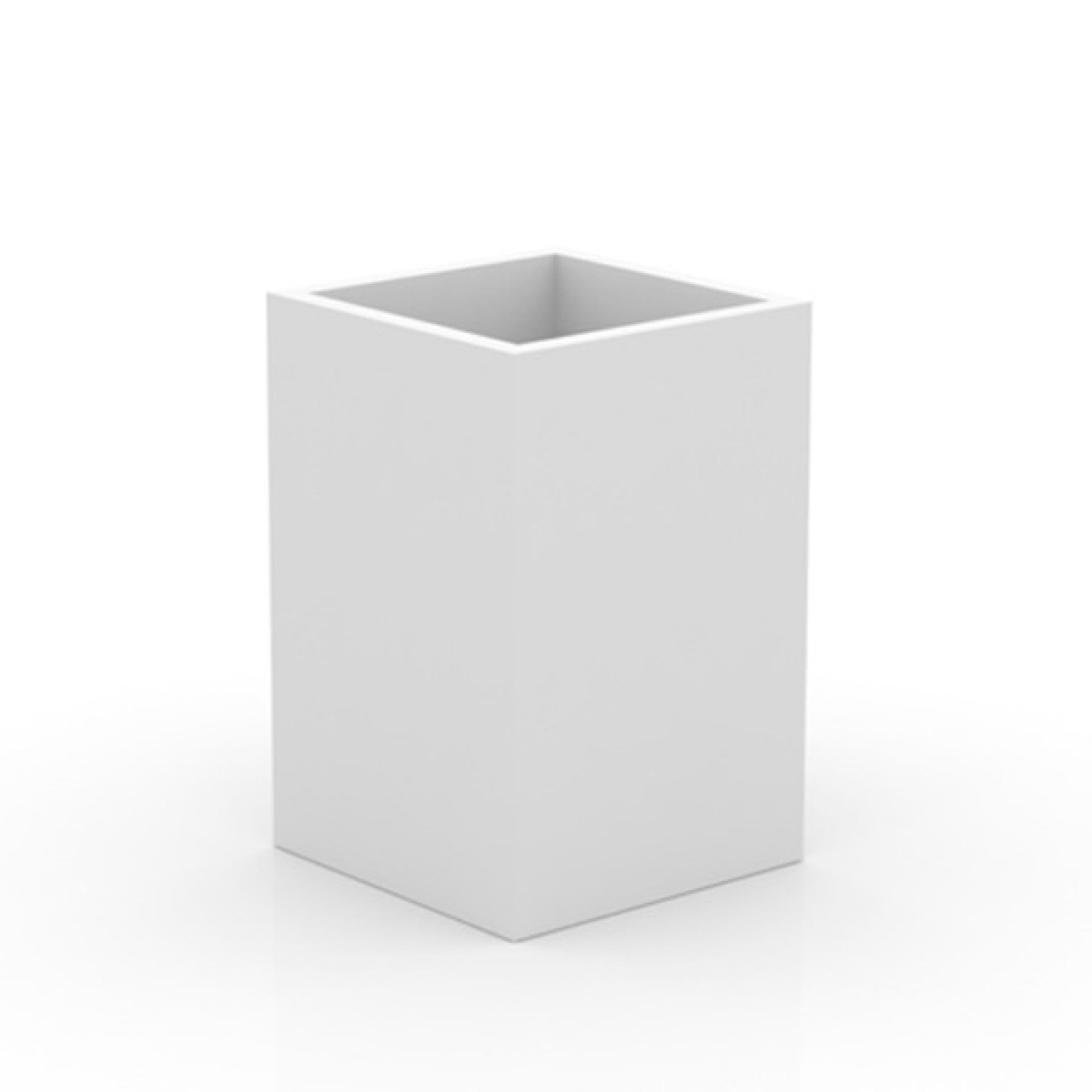 CUBE TOP IN WHITE LLDPE RESIN, RESISTANT TO UVI AND EXTREME TEMPERATURES