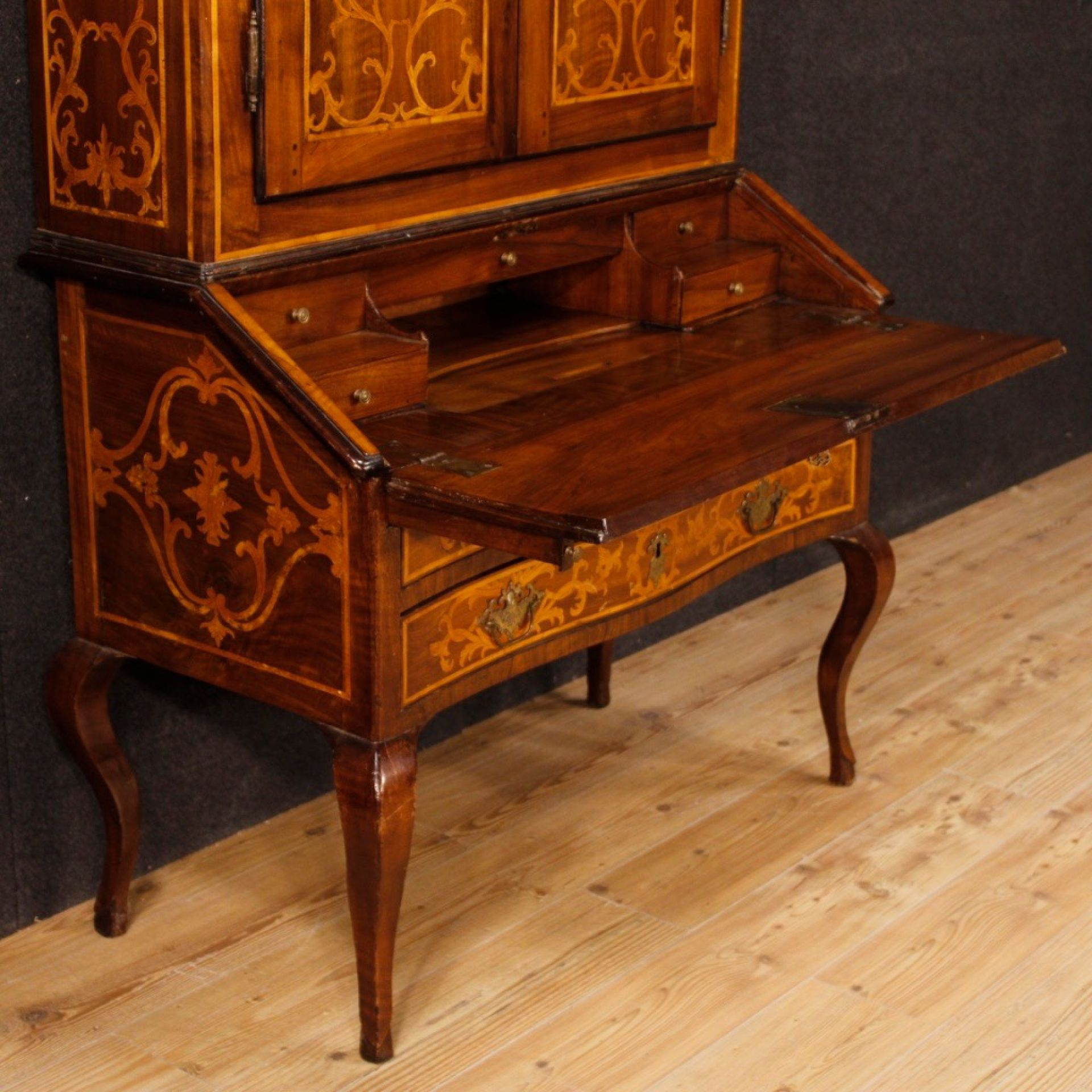 18th Century Inlaid Wood Italian Trumeau, 1780
