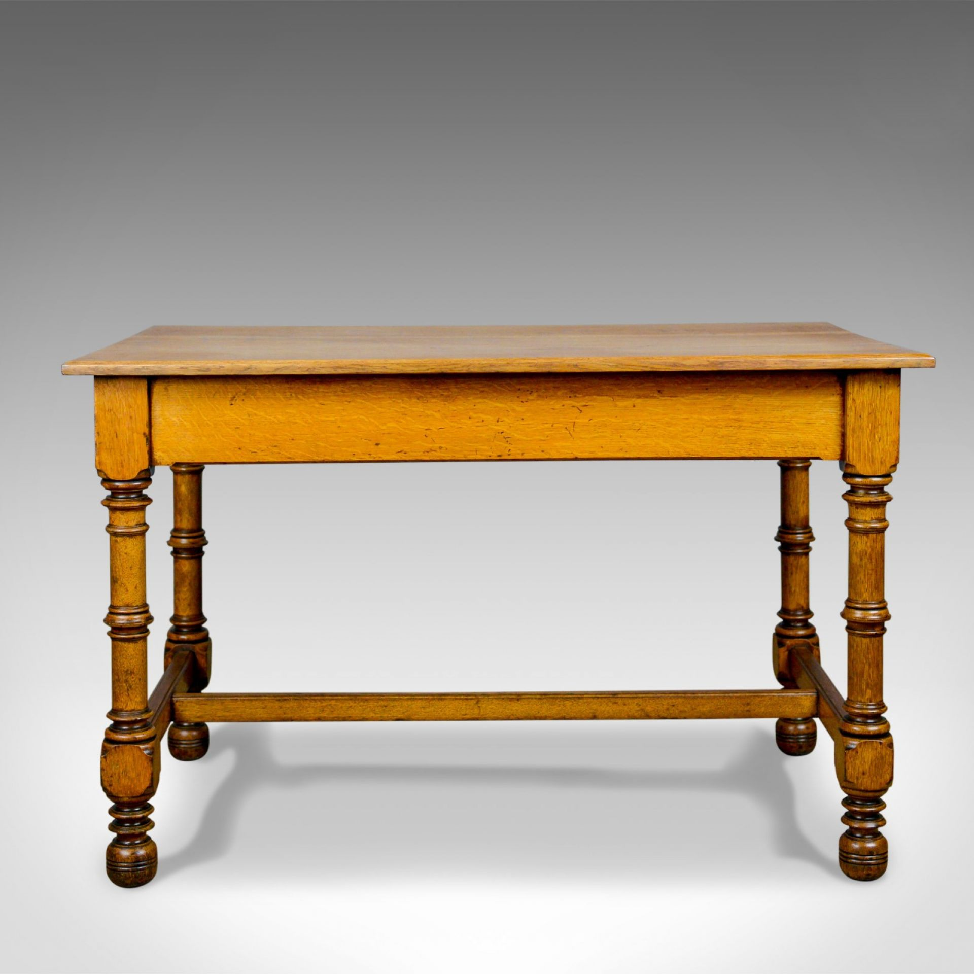 Antique Writing Table, English, Victorian, Side, Oak, Late C19th, Circa 1870