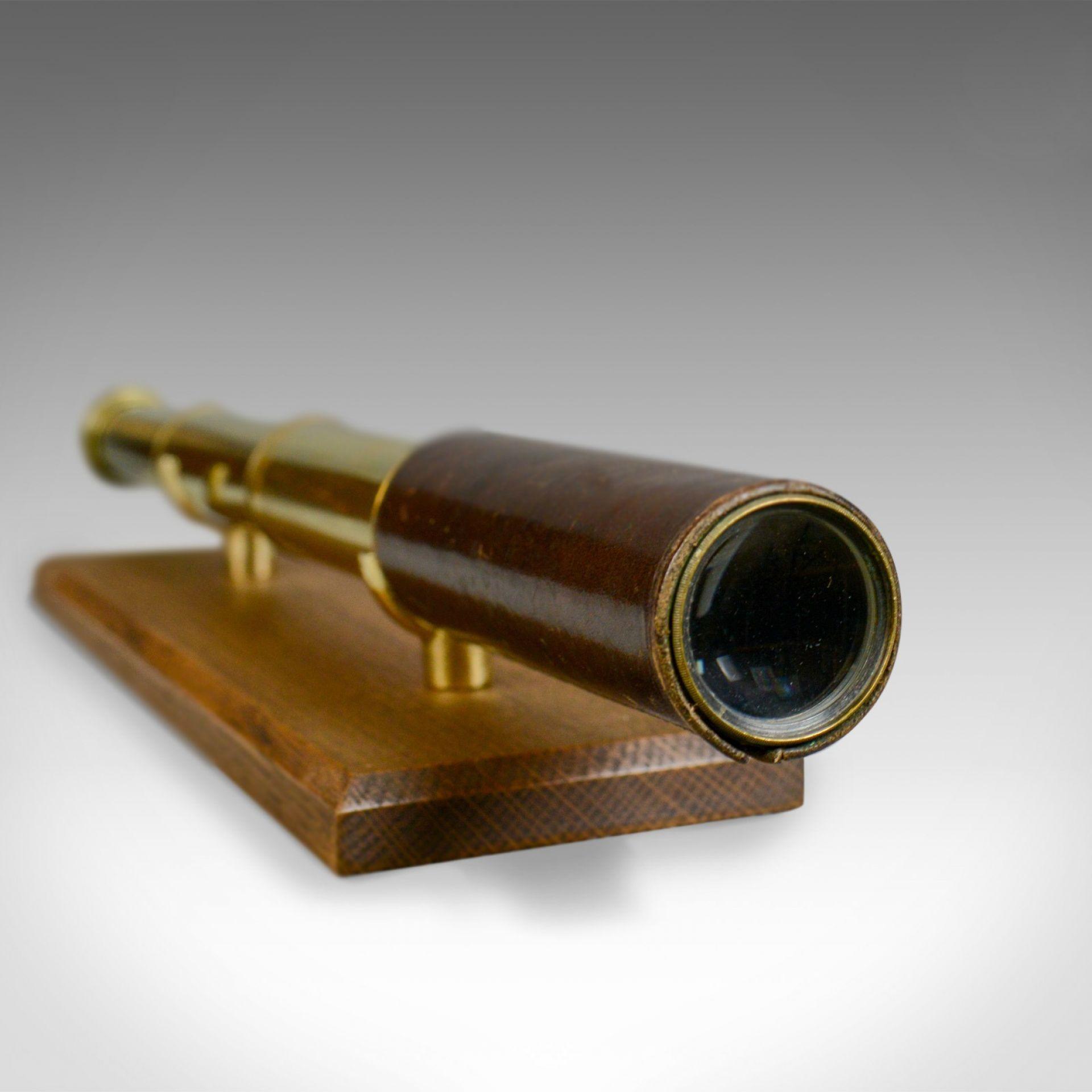 Antique Telescope, 3 Draw, Pocket Refractor, Broadhurst Clarkson, 20th Century
