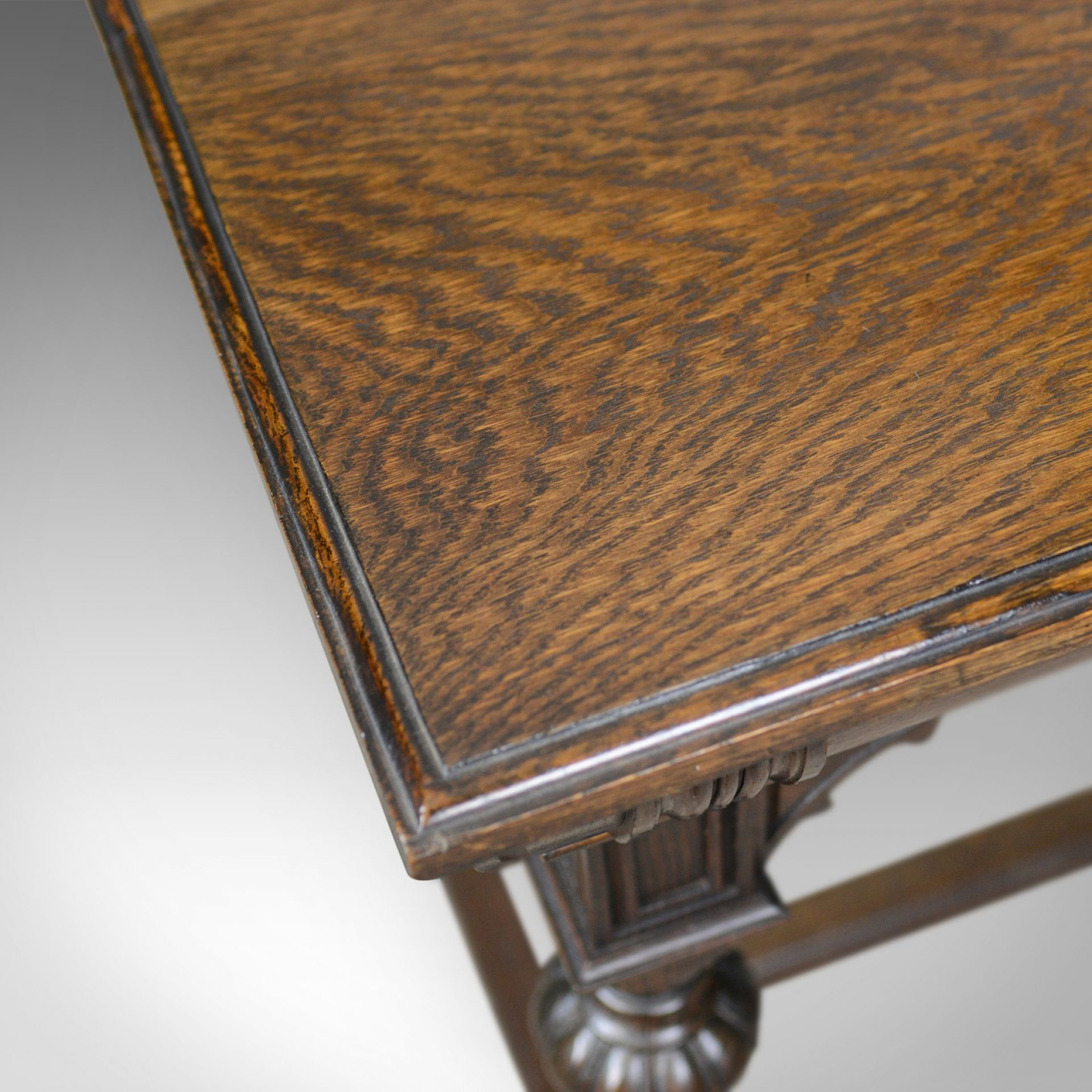 Antique Console Table, Irish, Oak, Side, Carved, Late 19th Century, Circa 1880