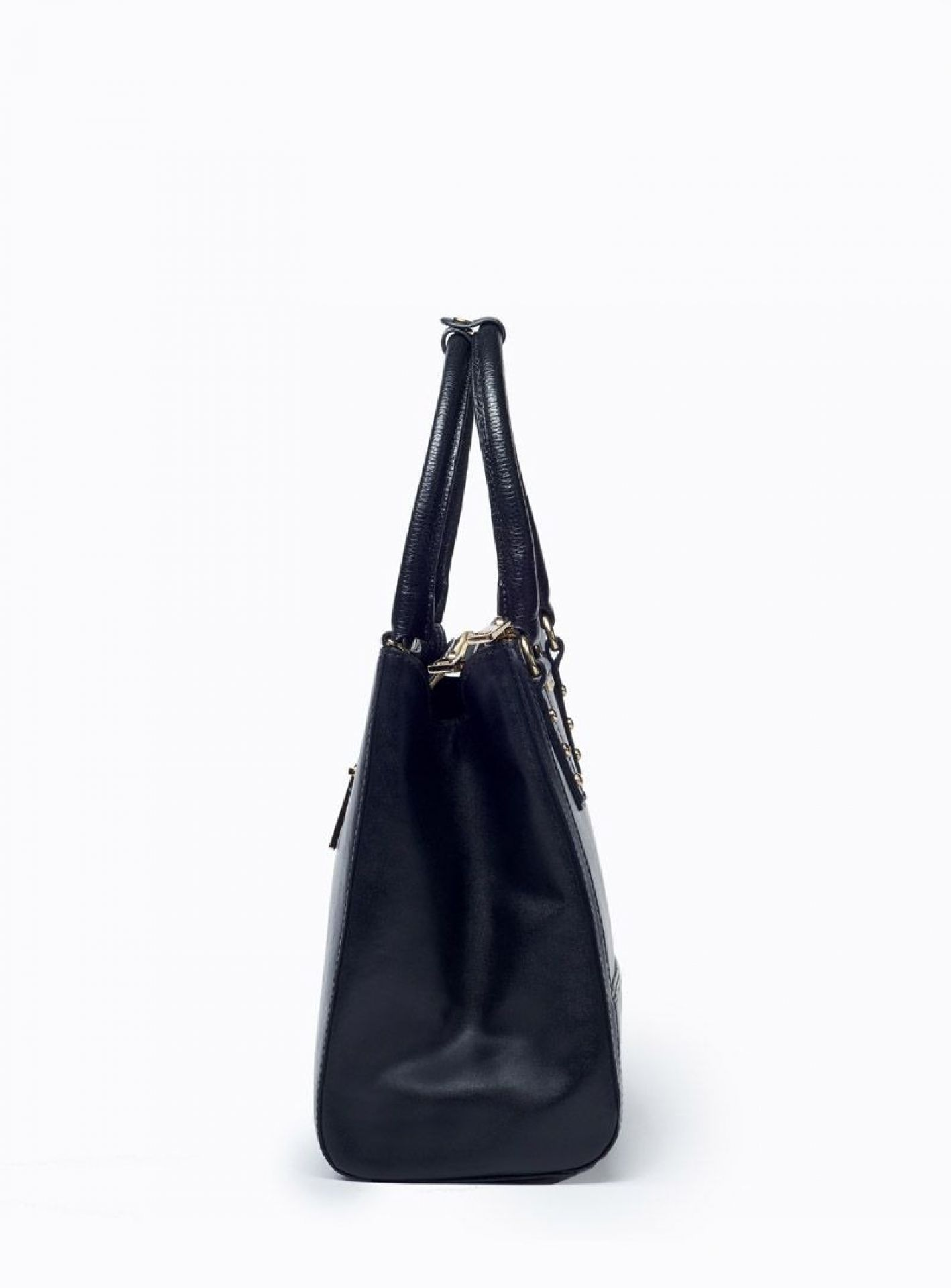 VIVER OLLE BLACK LEATHER HANDBAG