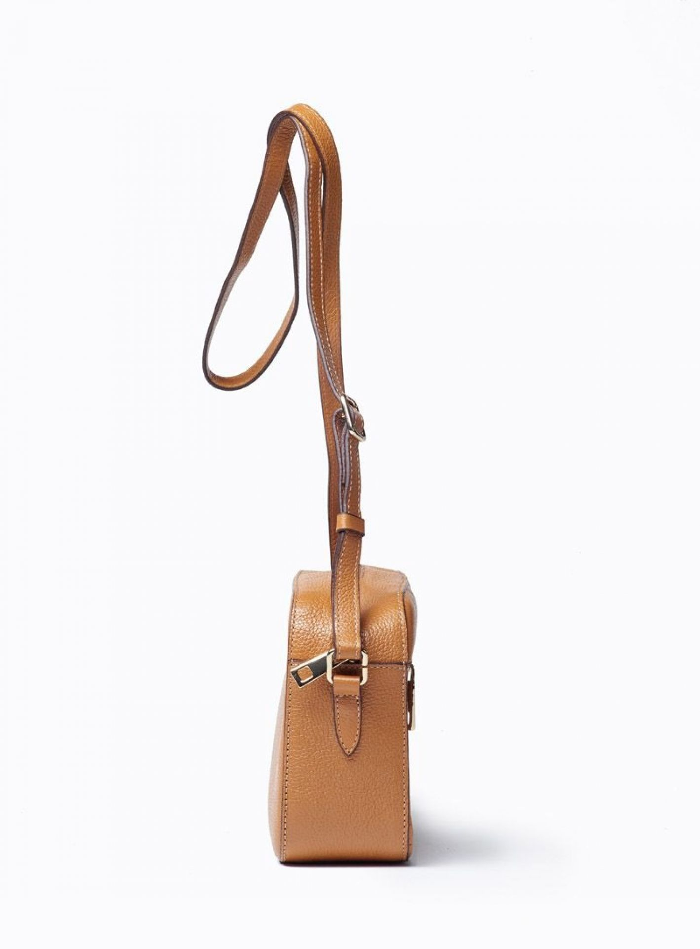 VIVER BELLE TAN LEATHER CROSSBODY BAG