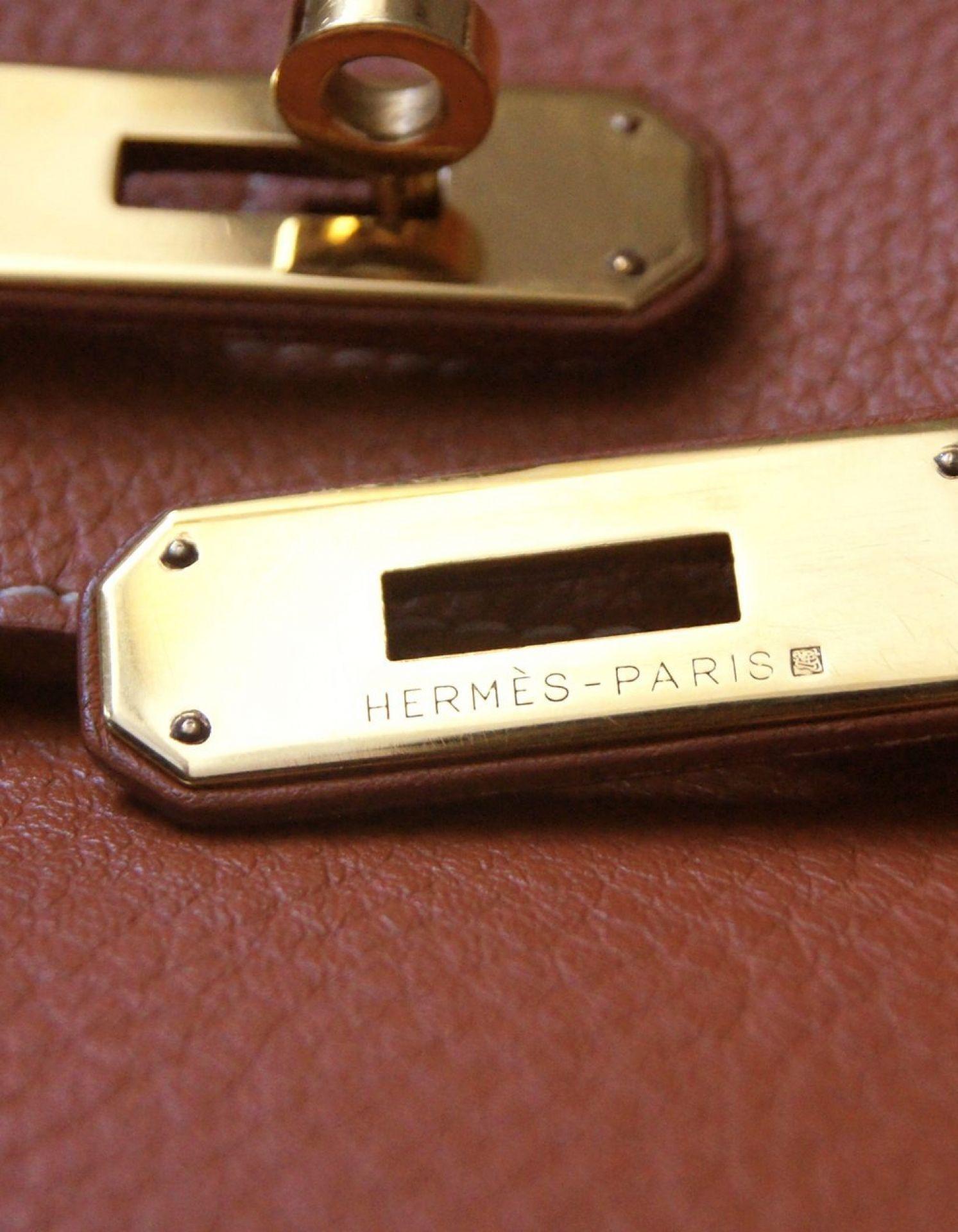 HERMÈS Birkin 35 Estrusque Clemence GHW