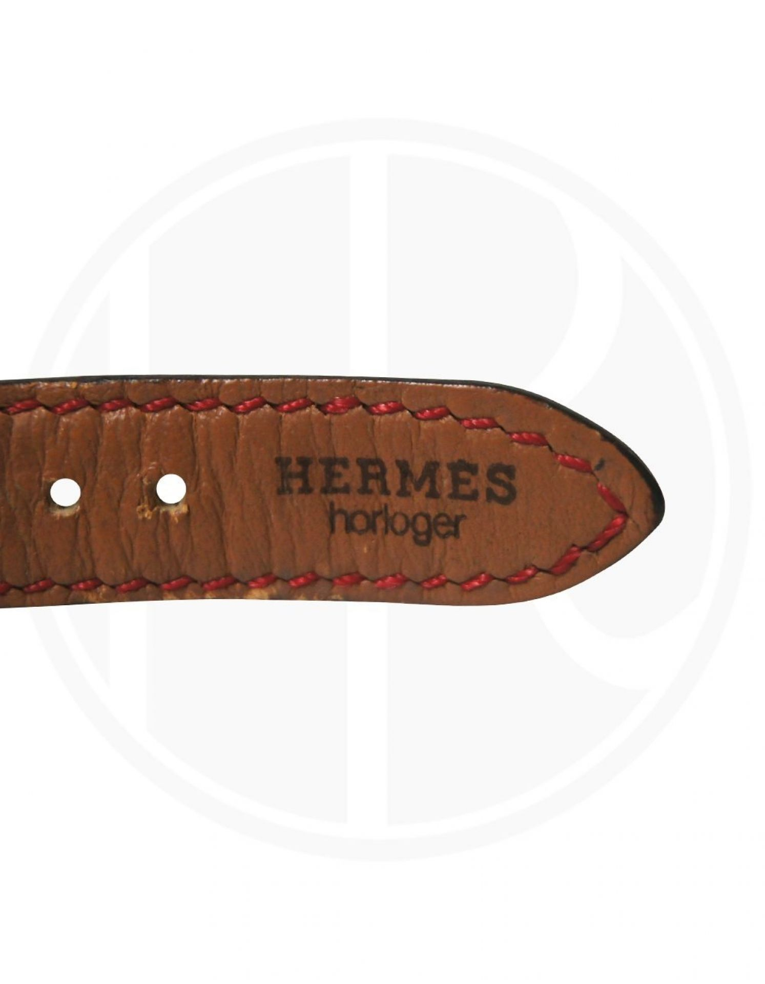 HERMÈS  Kelly Watch Croc Bordeaux Quartz