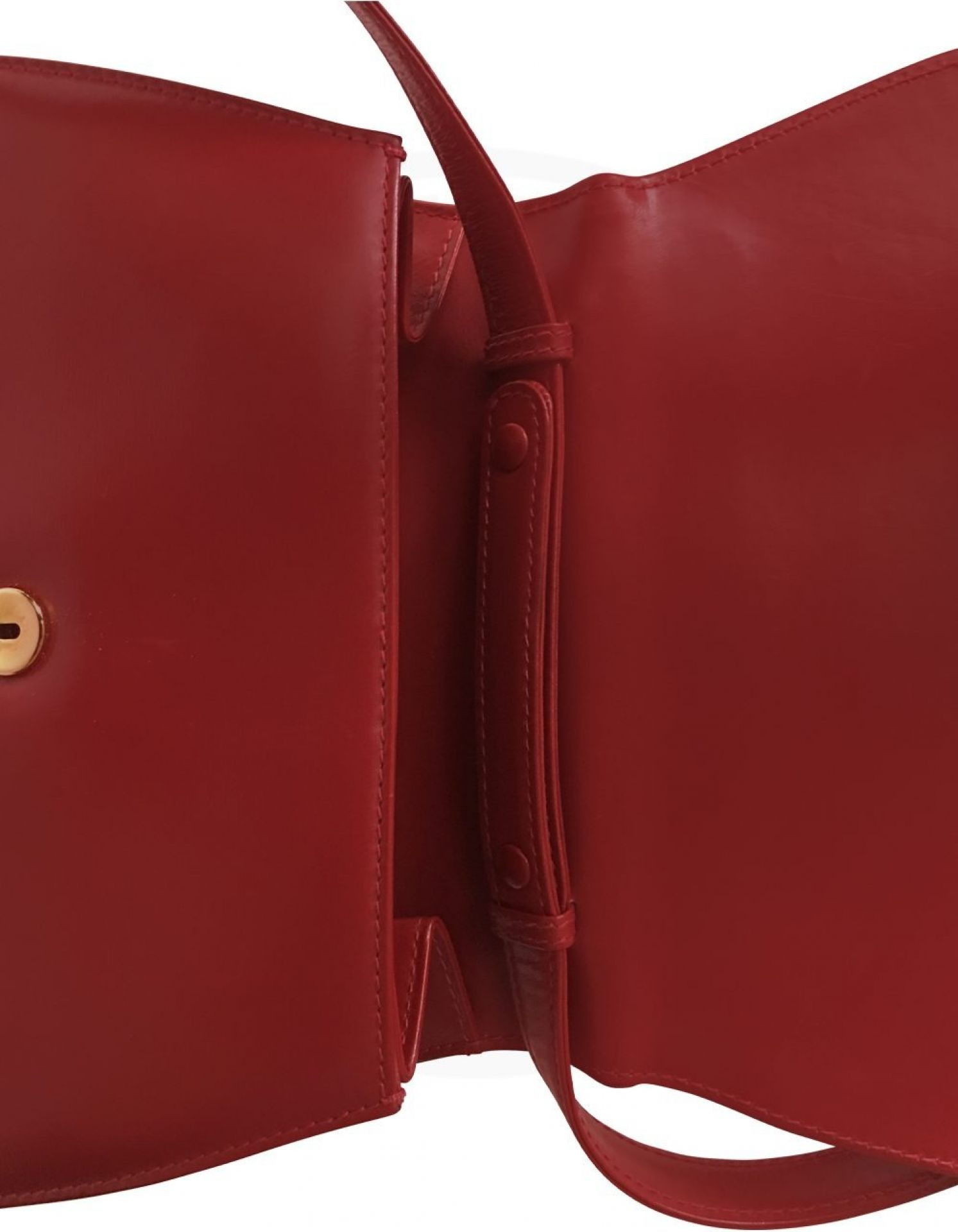 GUCCI Red Bamboo Tote