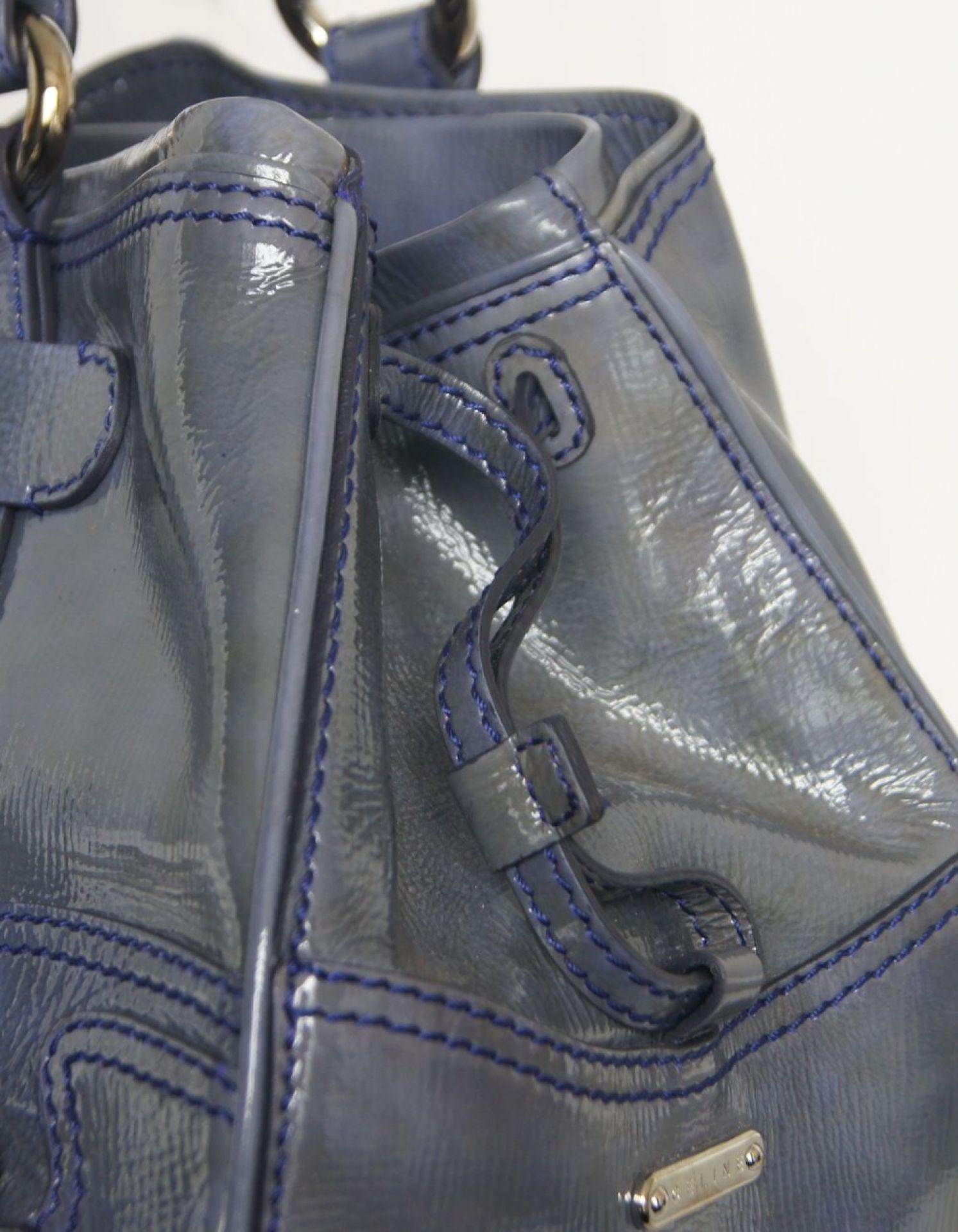 CELINÉ Blue Patent Tote