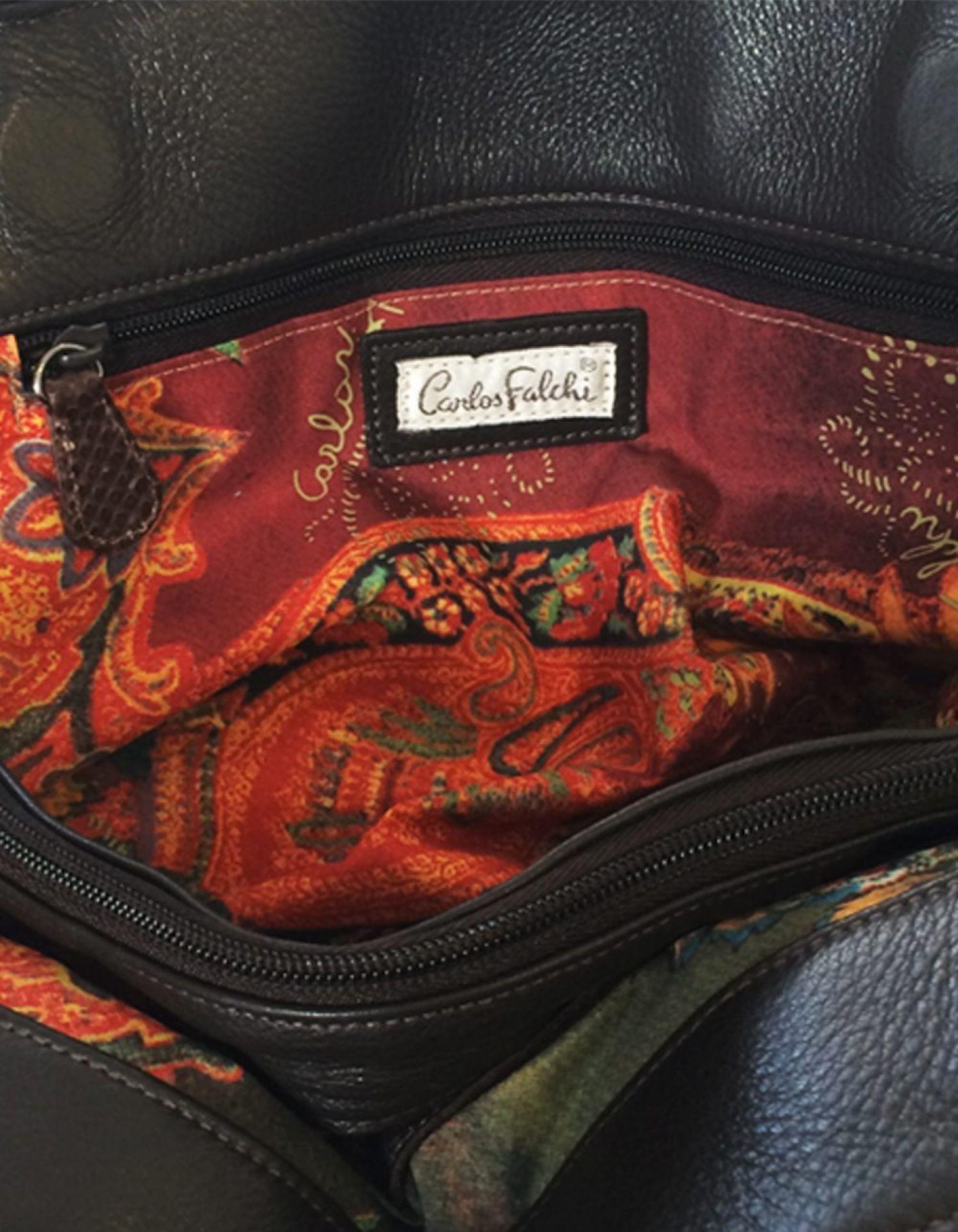 CARLOS FALCHI Python Doctor Bag