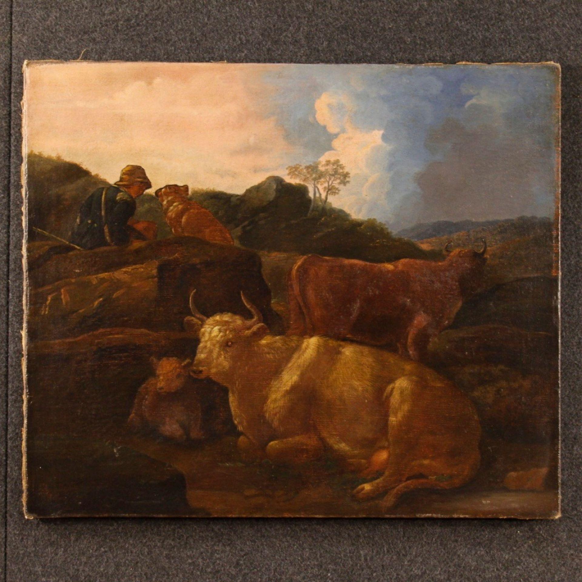19th Century Oil On Canvas Italian Landscape Painting, 1870