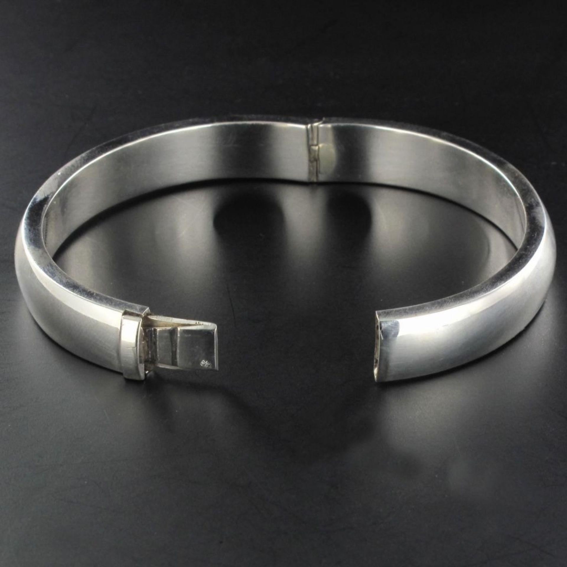 Silver half-ring bracelet 0.5 cm