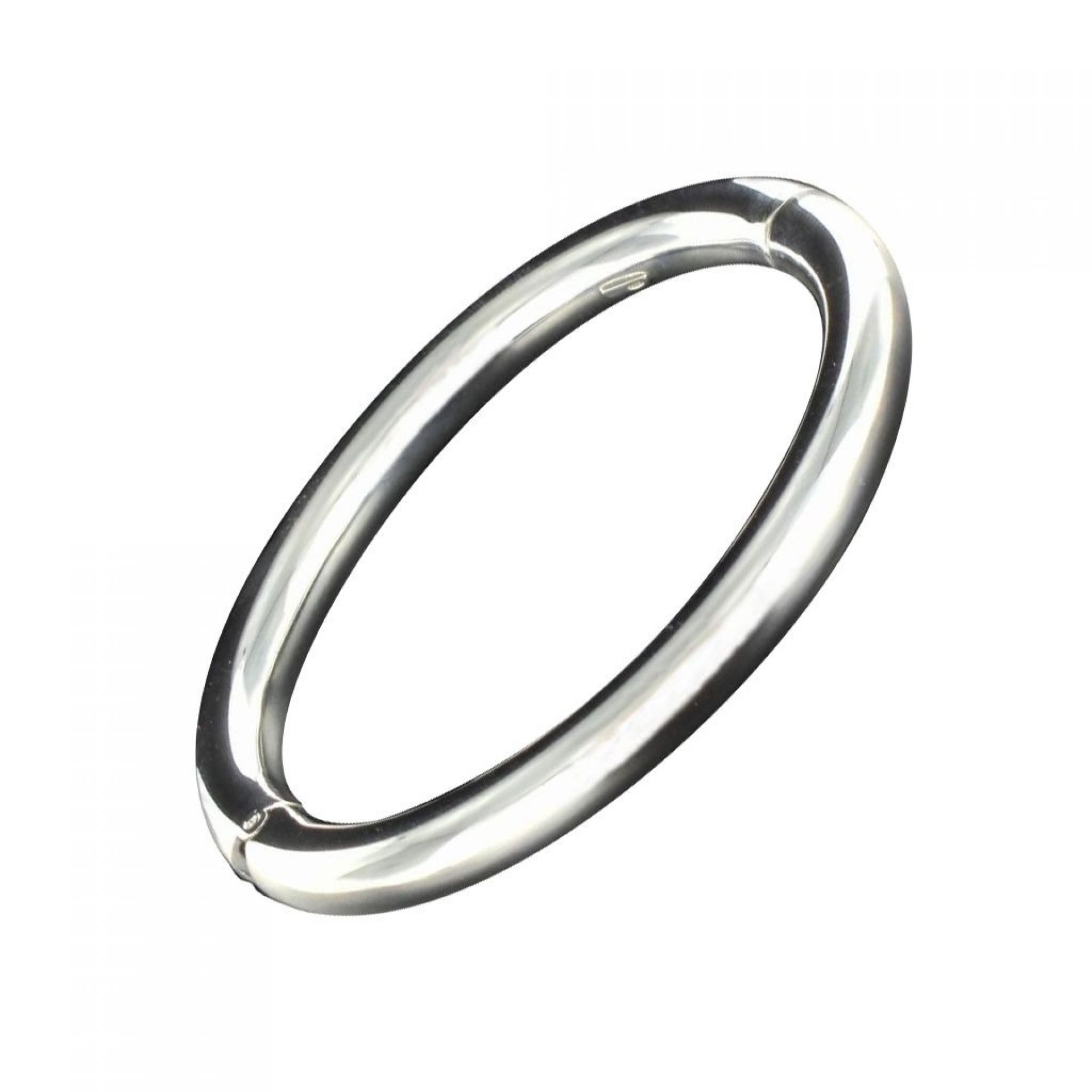 Solid silver bangle bracelet