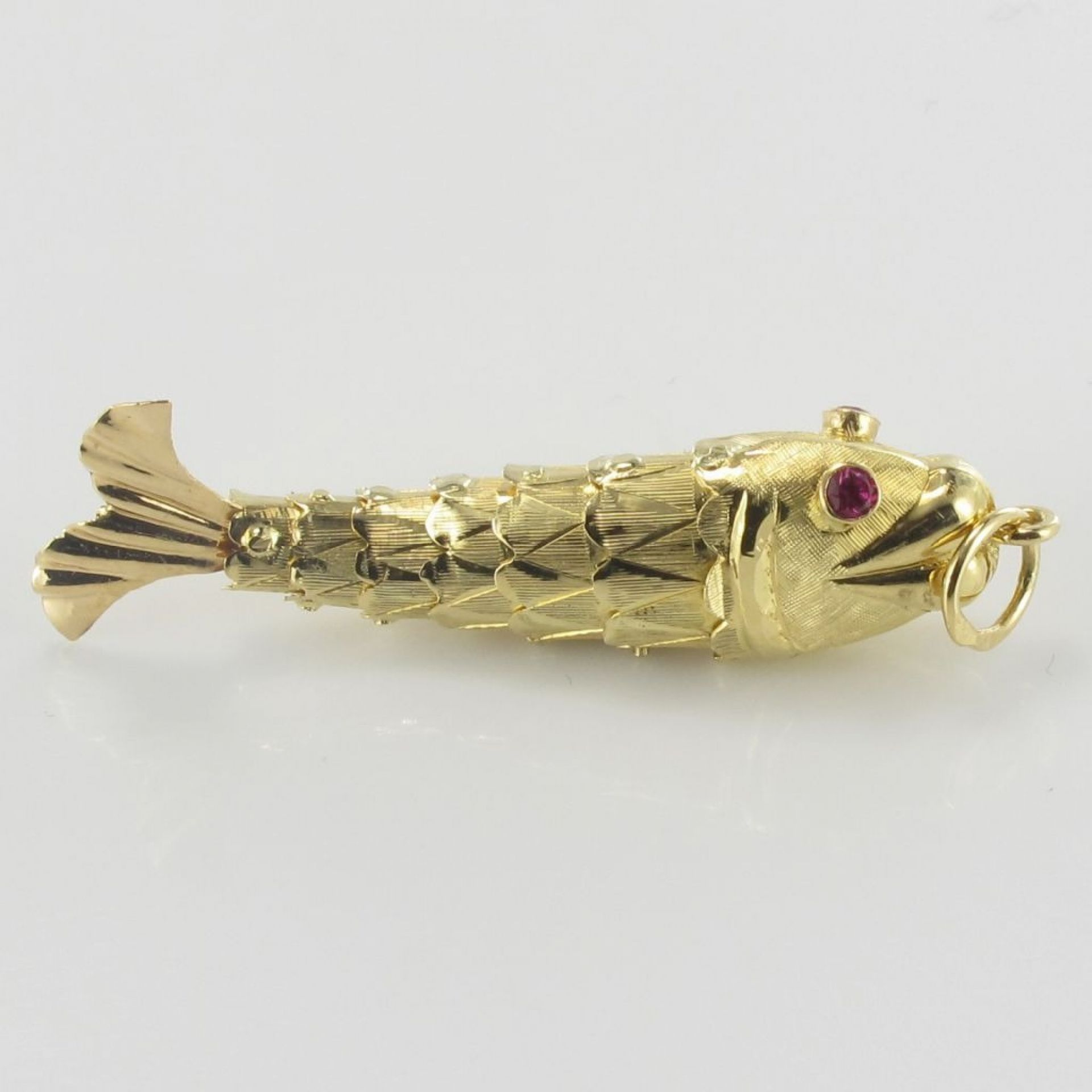 Old gold fish pendant