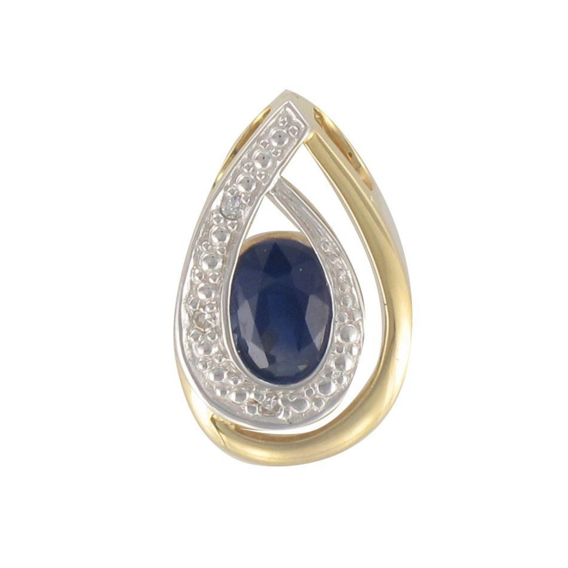 Used sapphire diamond pendant