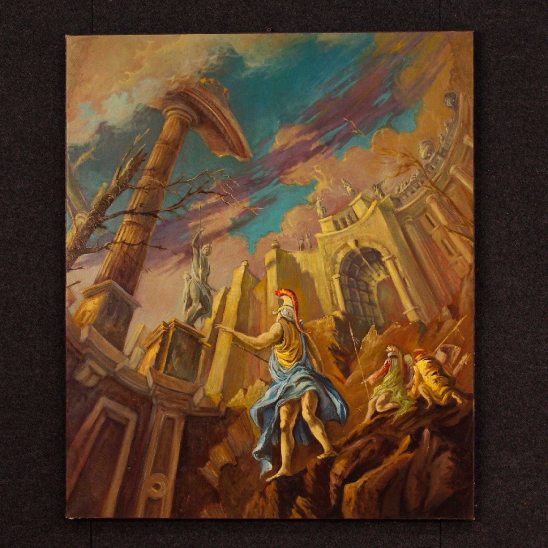 20th Century Oil On Canvas Italian Mythological Painting, 1940