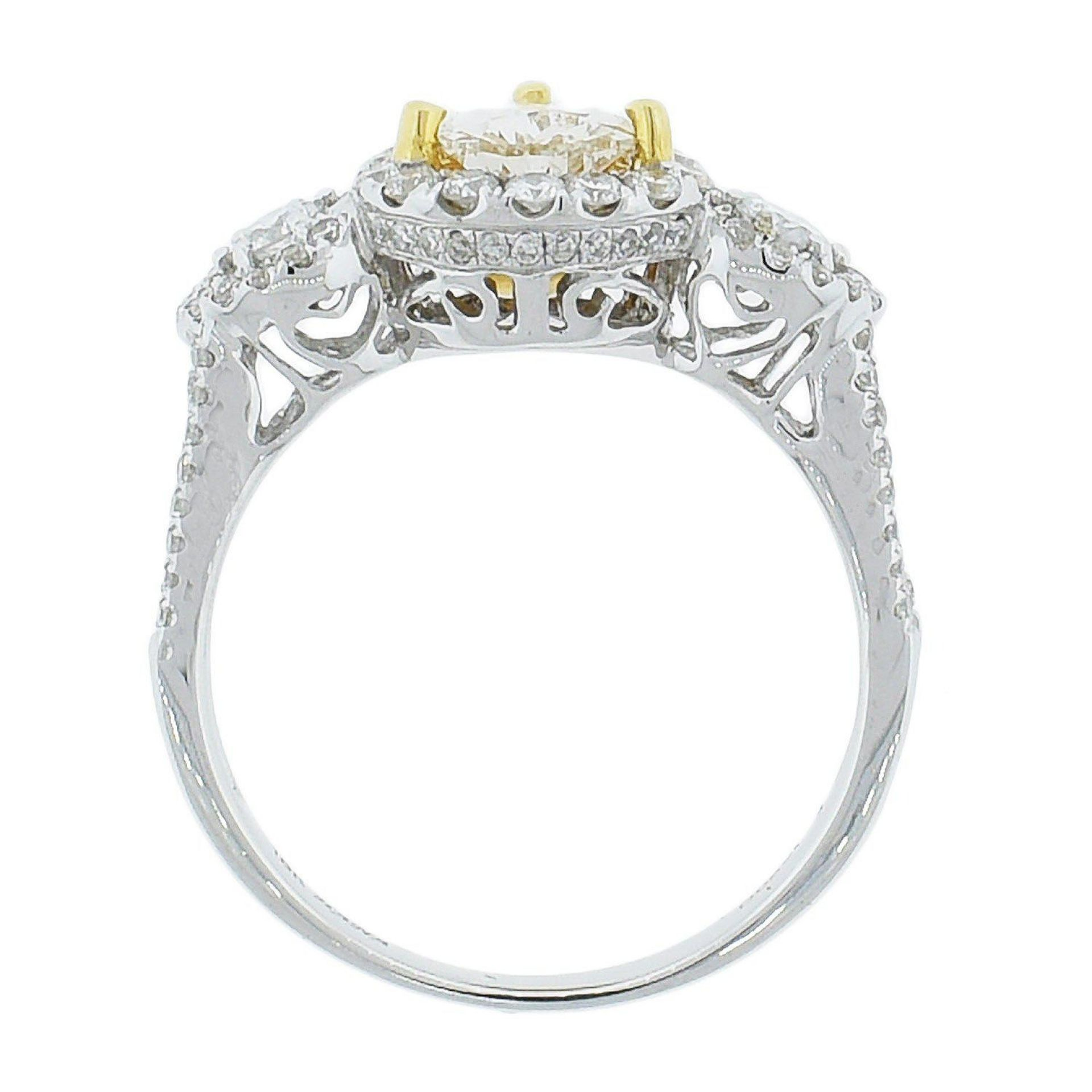 0.95ct SI1 CLARITY CENTER Diamond Ring (1.64ctw Diamonds) EGL USA CERTIFIED