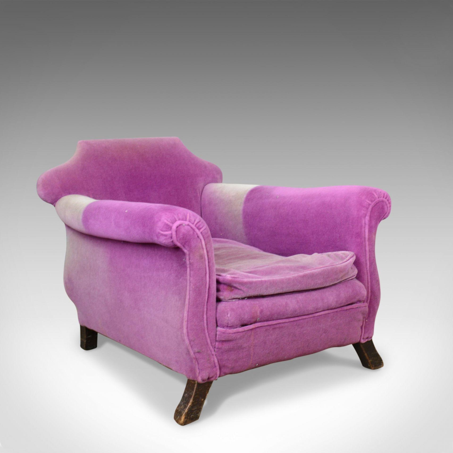 Very Deep Antique Armchair, English, Edwardian, Club Chair, Circa 1910
