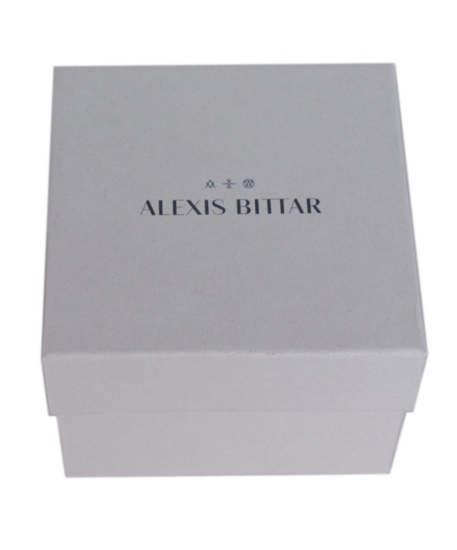 ALEXIS BITTAR PURPLE GREEN BLUE PINK RESIN BRACELET SET